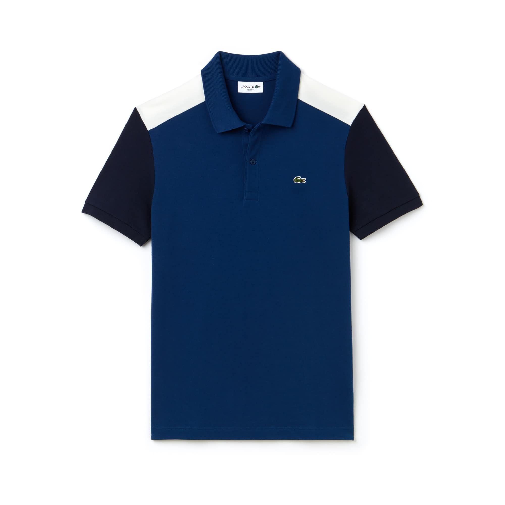 Lacoste - Polo slim fit Lacoste en piqué de coton Pima stretch color block - 3