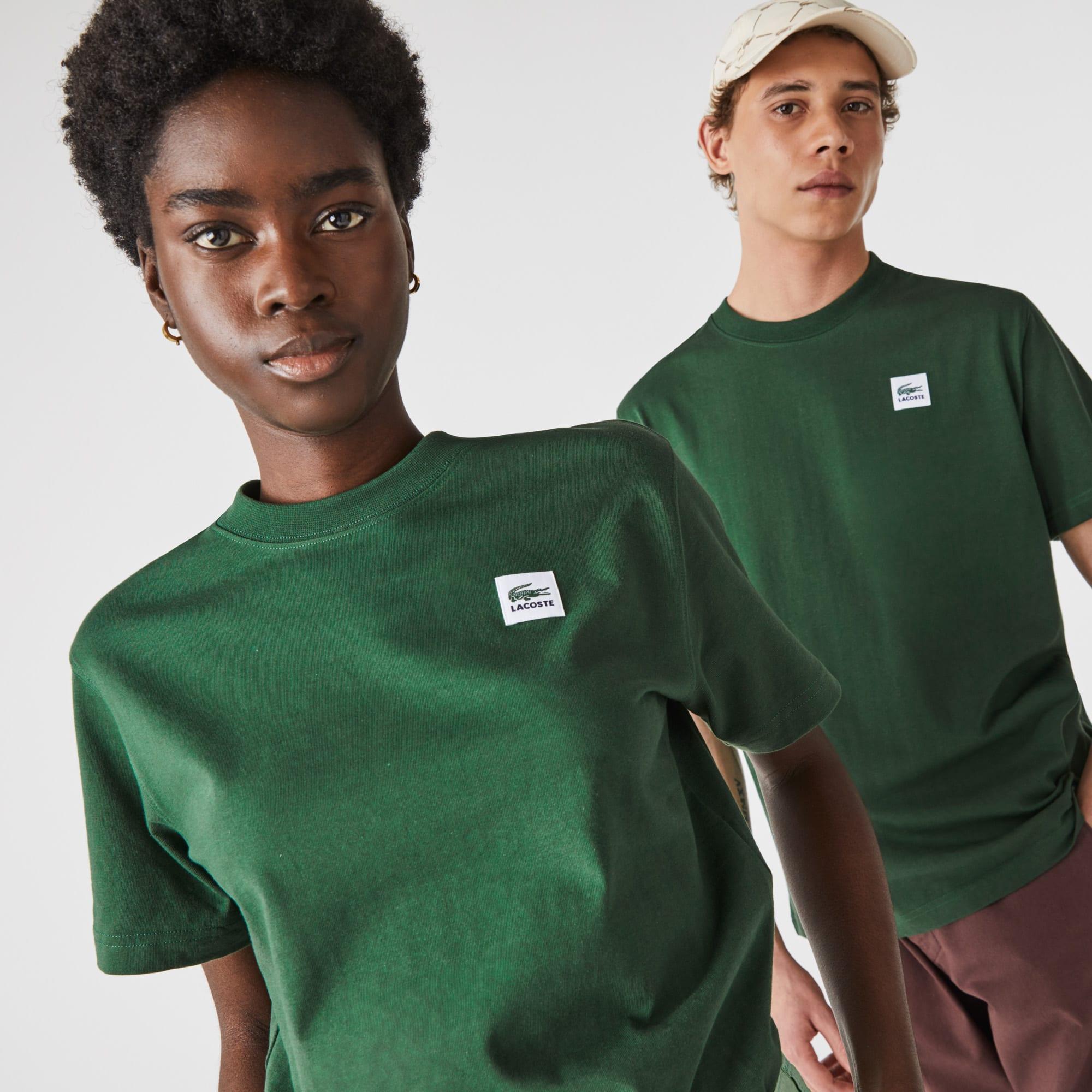 T-shirt unisexe Lacoste LIVE en coton uni avec patch Taille 1 - XXS Vert