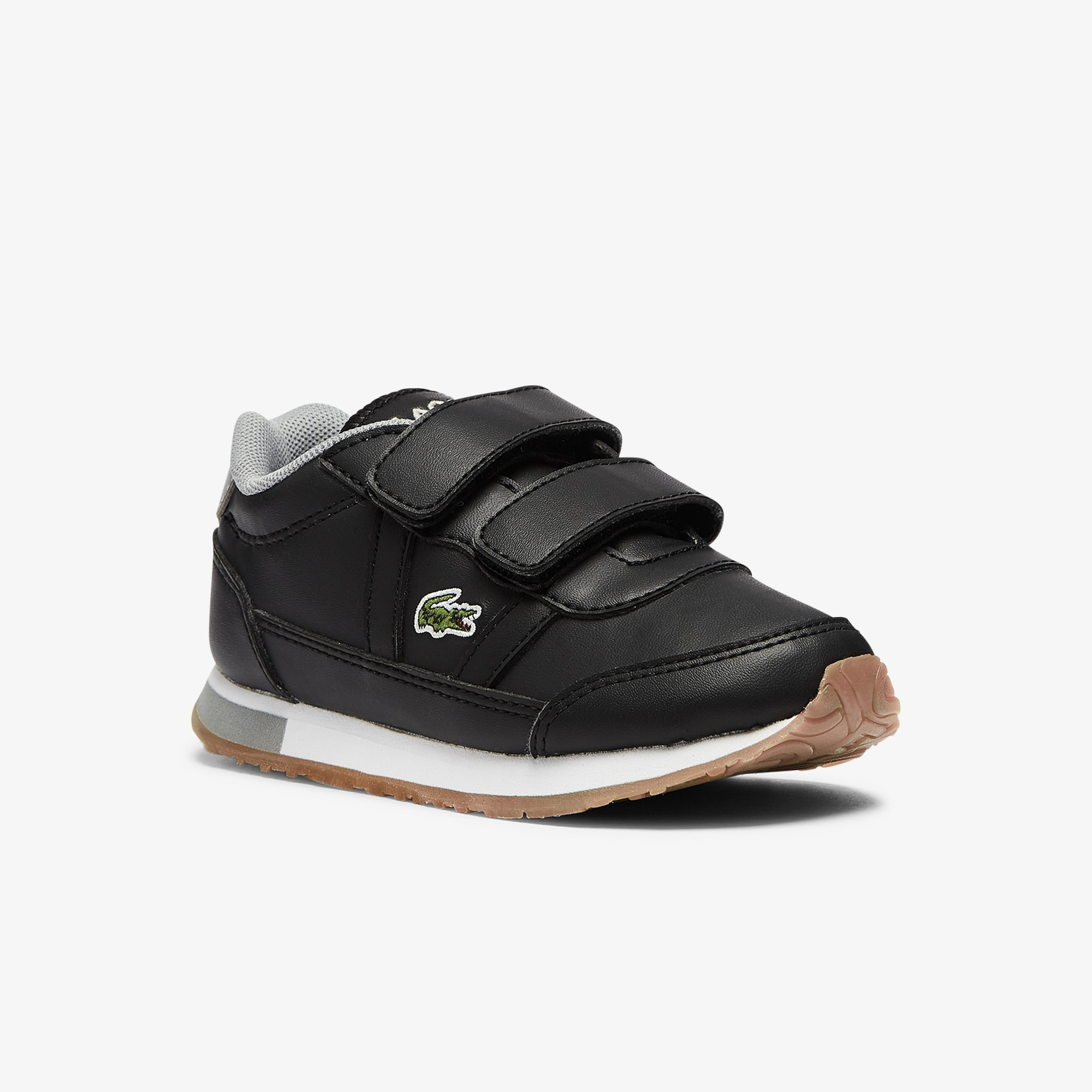 Lacoste Sneakers Partner bébé en tissu Taille 20 Noir/gris