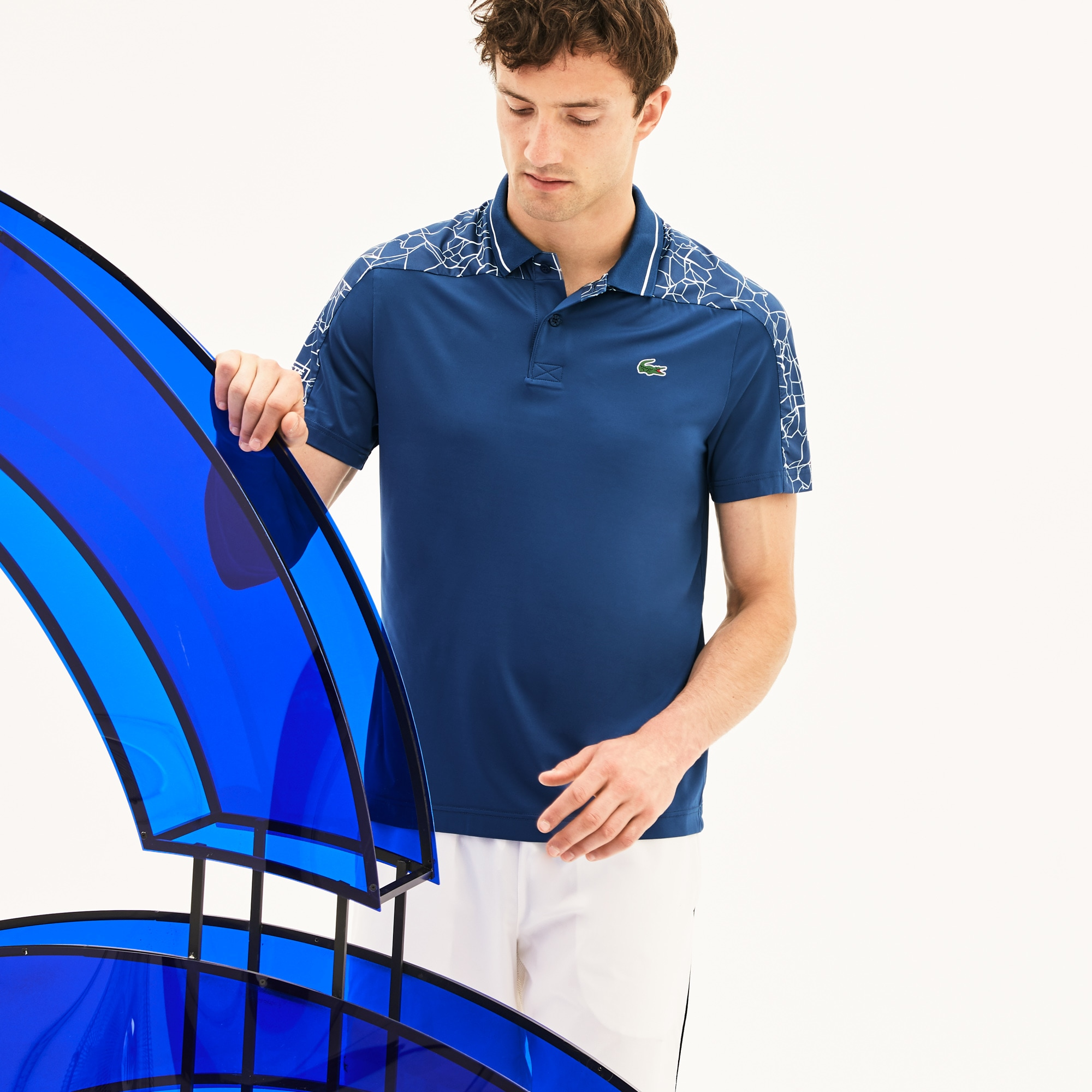Polo Lacoste SPORT Collection Novak Djokovic - On Court en jersey stretch technique