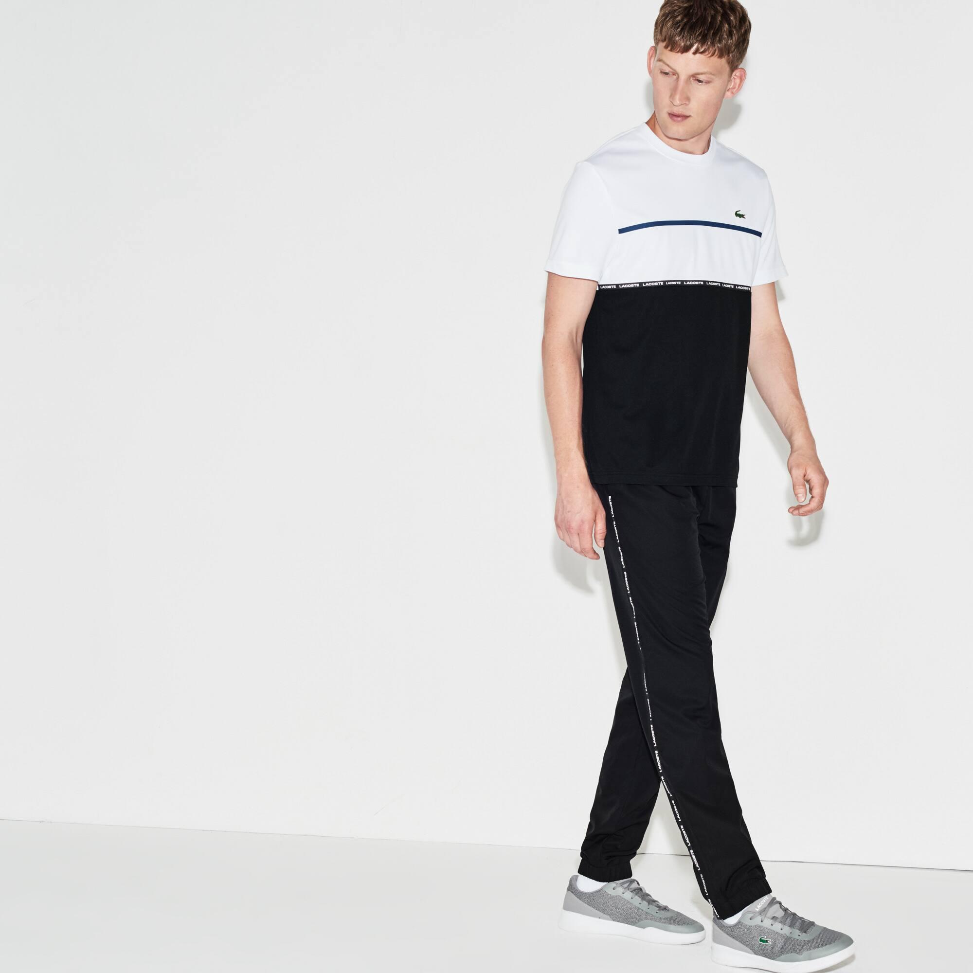 Pantalon de survêtement Tennis Lacoste SPORT avec bande contrastée