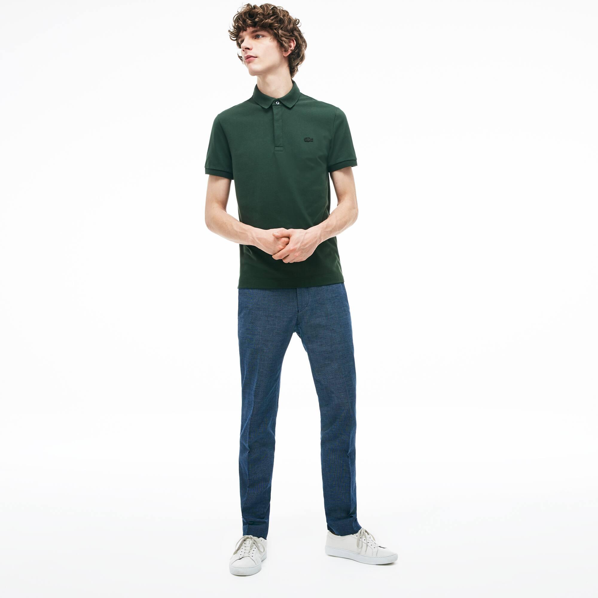 bd9d73c295 Pantalon chino slim fit en coton et lin mélangés