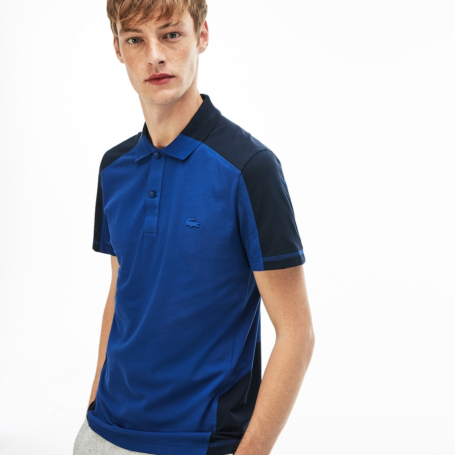 Polo regular fit Lacoste Motion en piqué ultra léger color-block