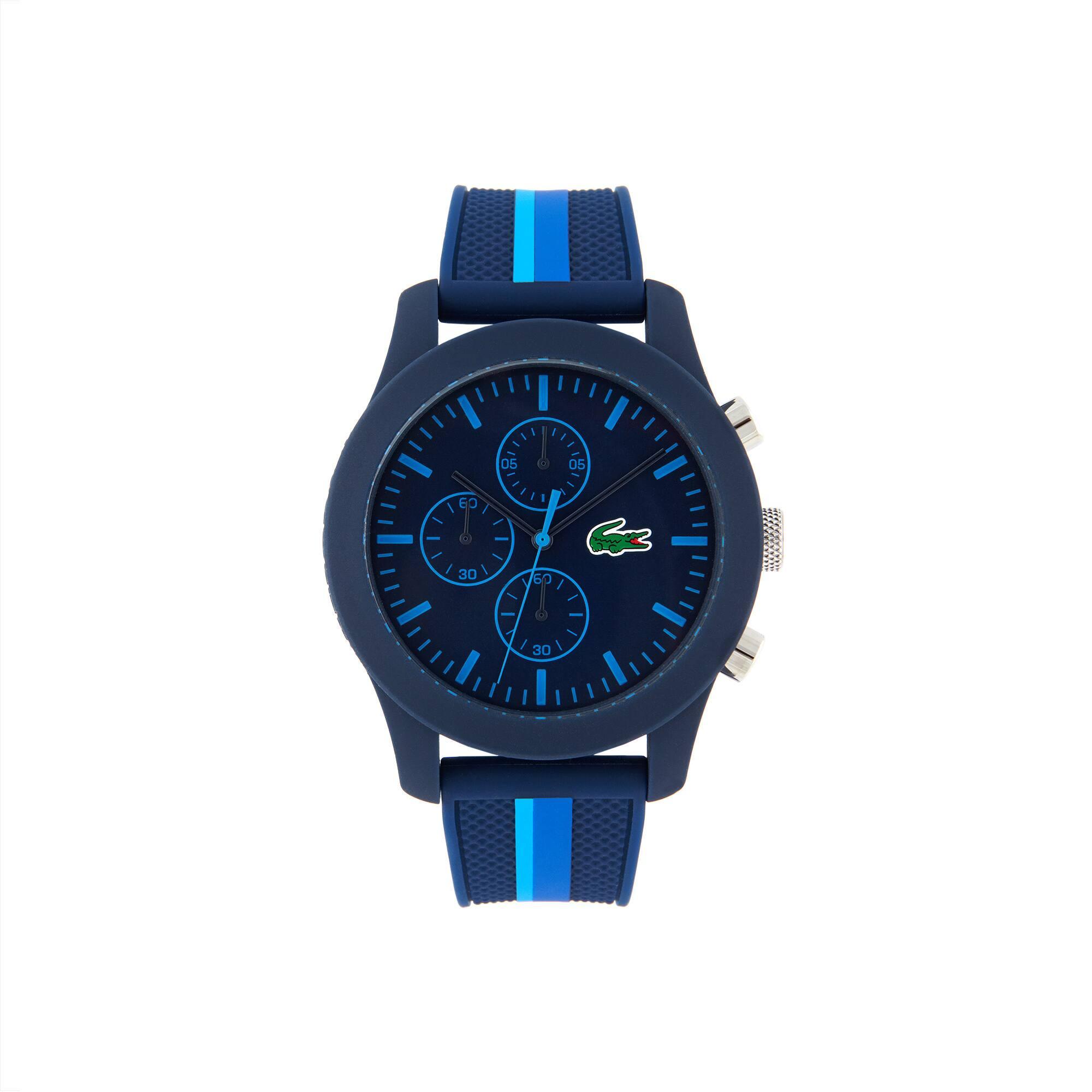 Montre Lacoste.12.12 Holiday Capsule Homme avec Bracelet en Silicone Bleu