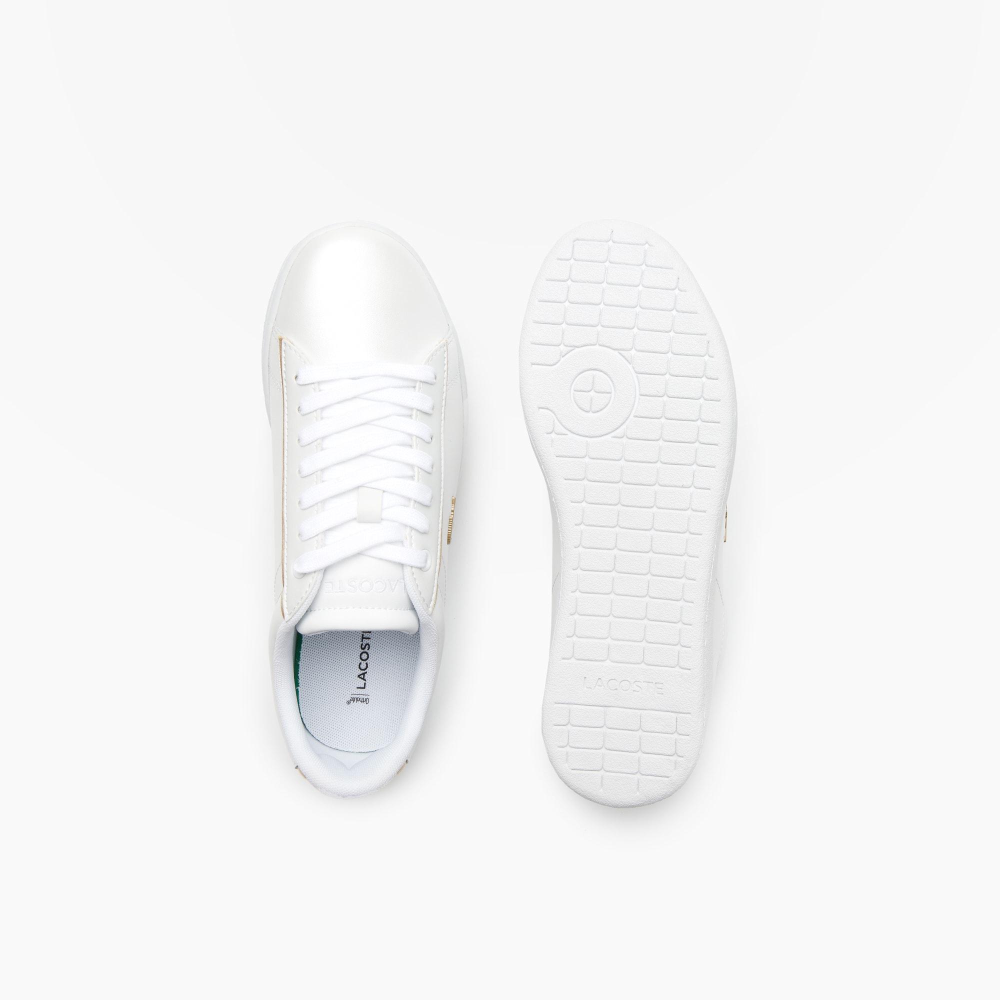 Carnaby Evo en Sneakers cuir LACOSTE nacré qZv71qxn4