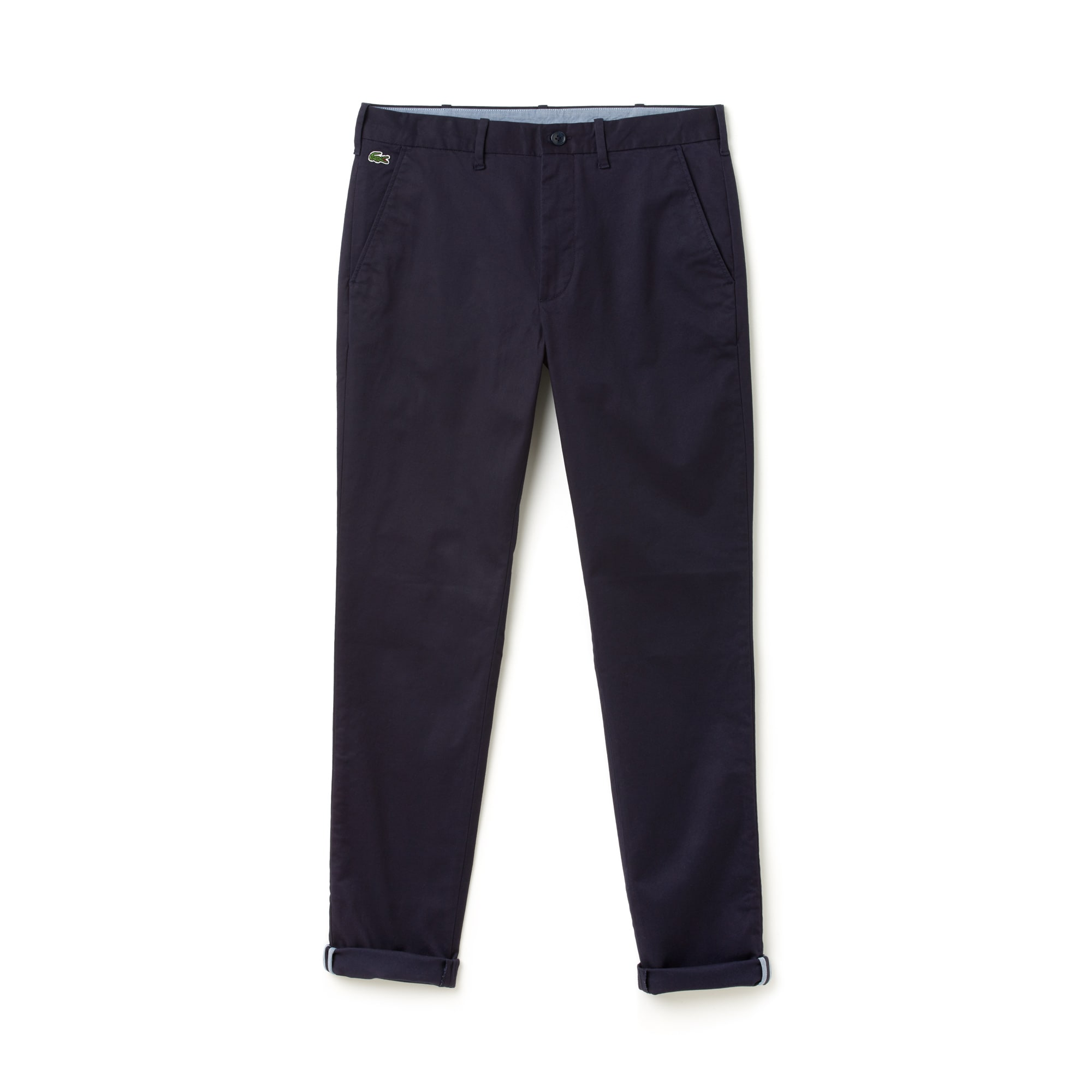 Pantalon chino Lacoste LIVE en twill stretch uni