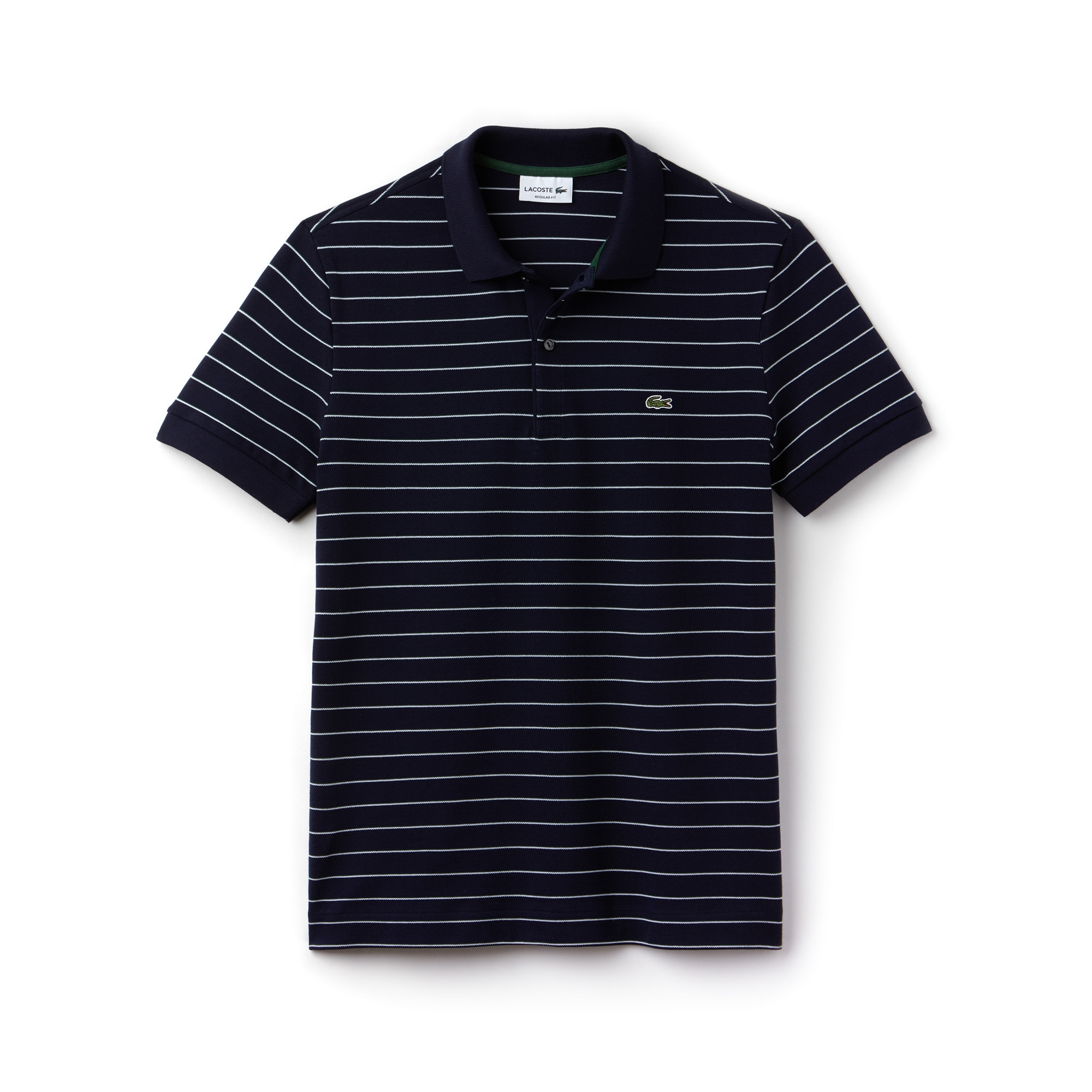 Polo regular fit Lacoste en piqué de coton rayé