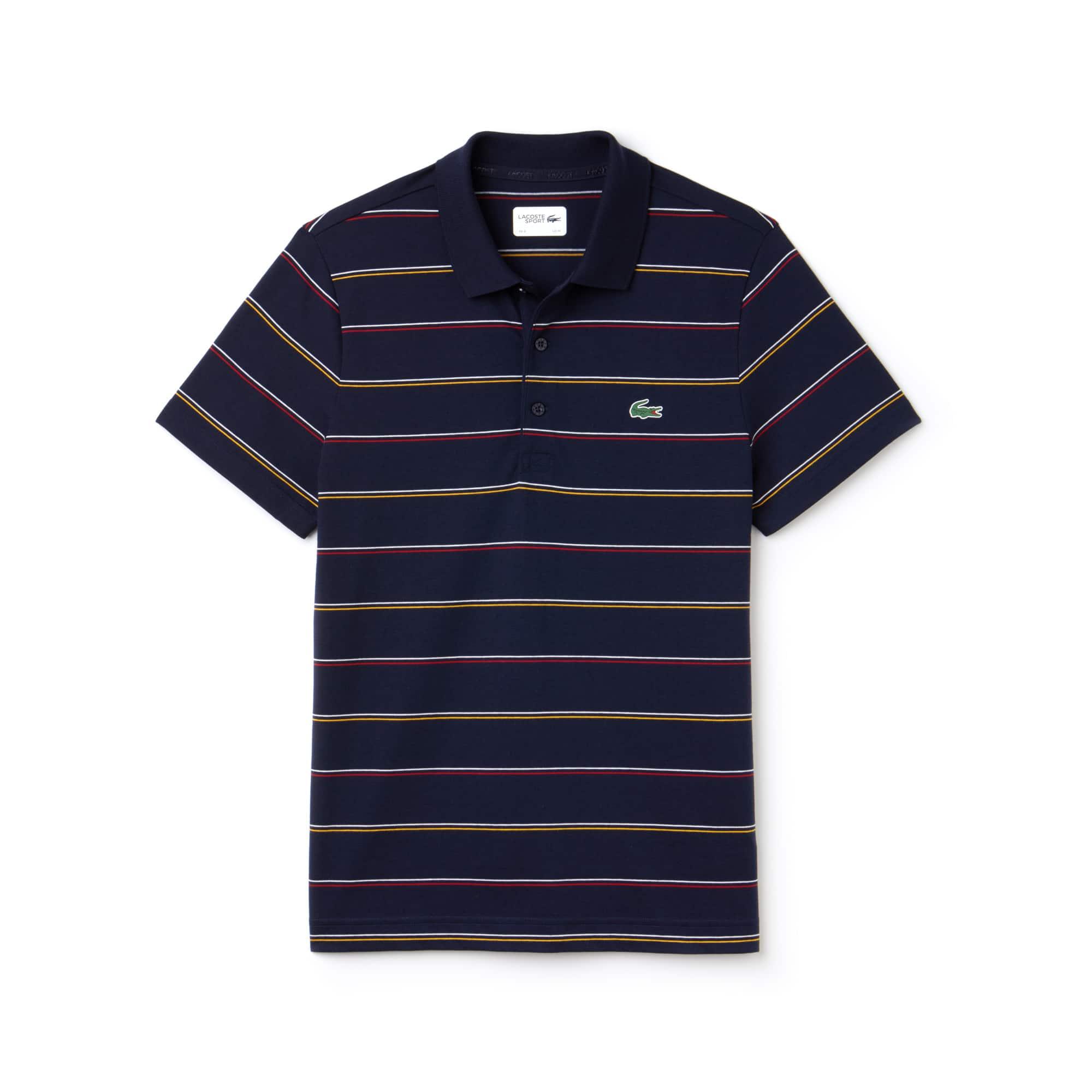 Polo Tennis Lacoste SPORT en jersey de coton rayé