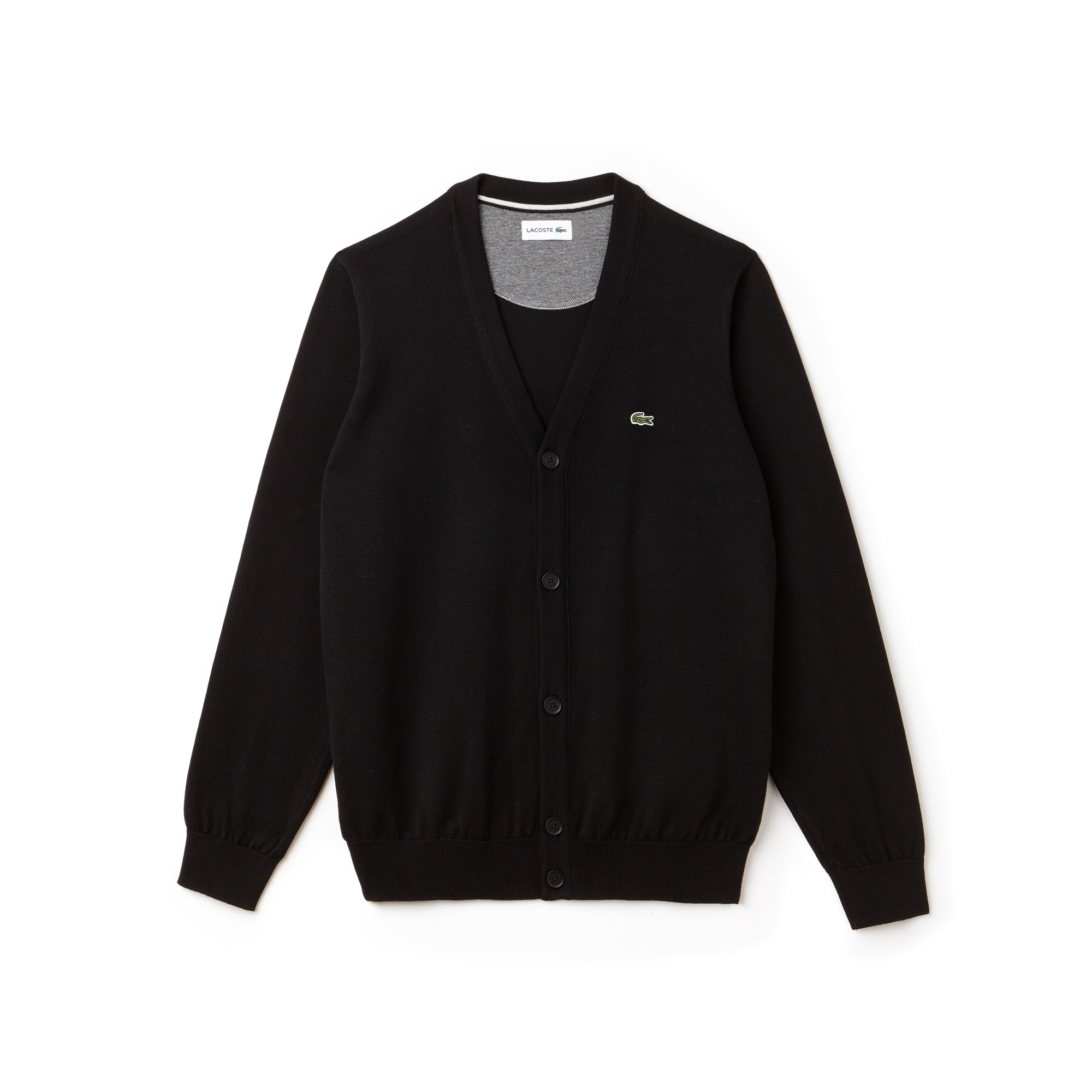 Cardigan en jersey de coton uni