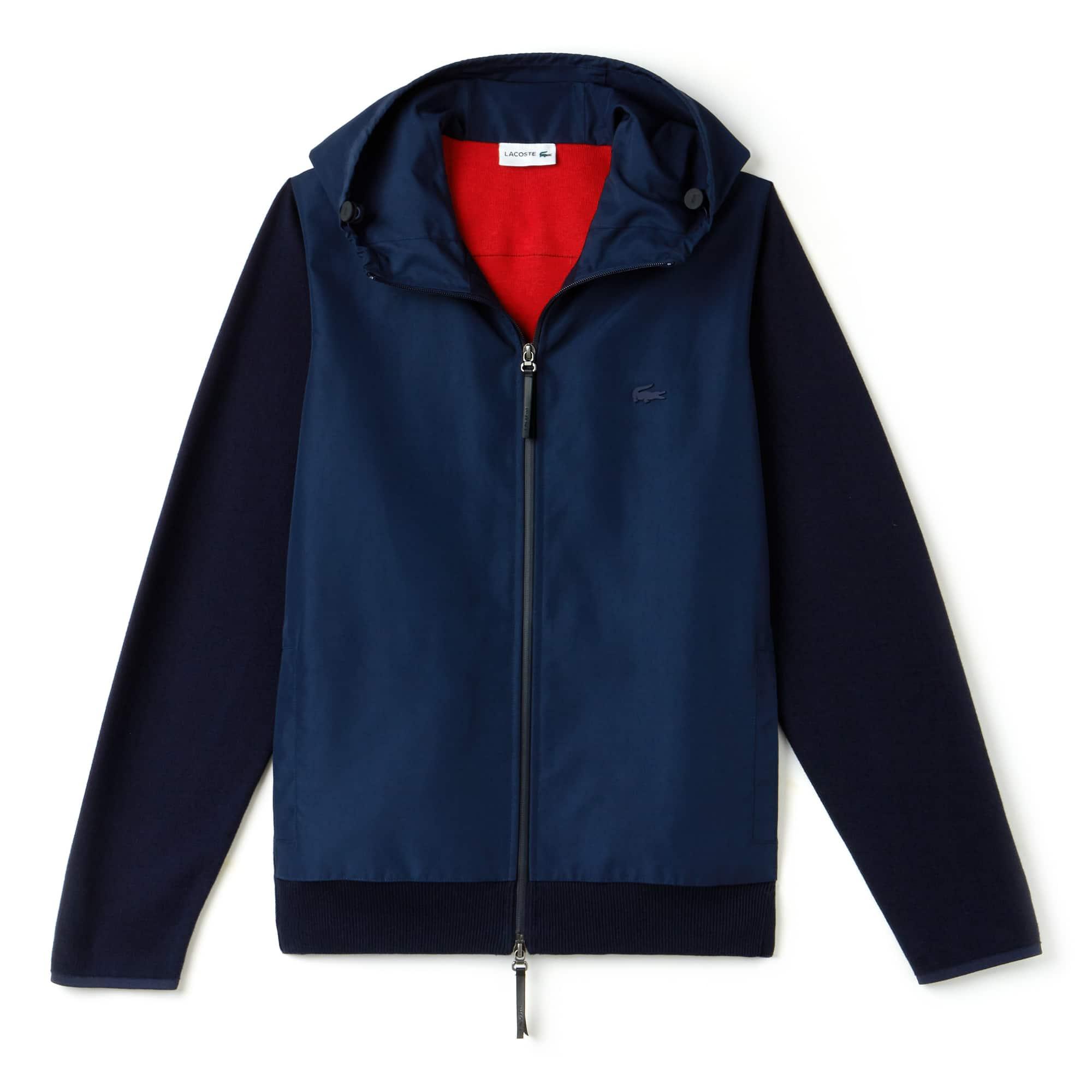 Pull à capuche Lacoste Motion en jersey avec fermeture zippée