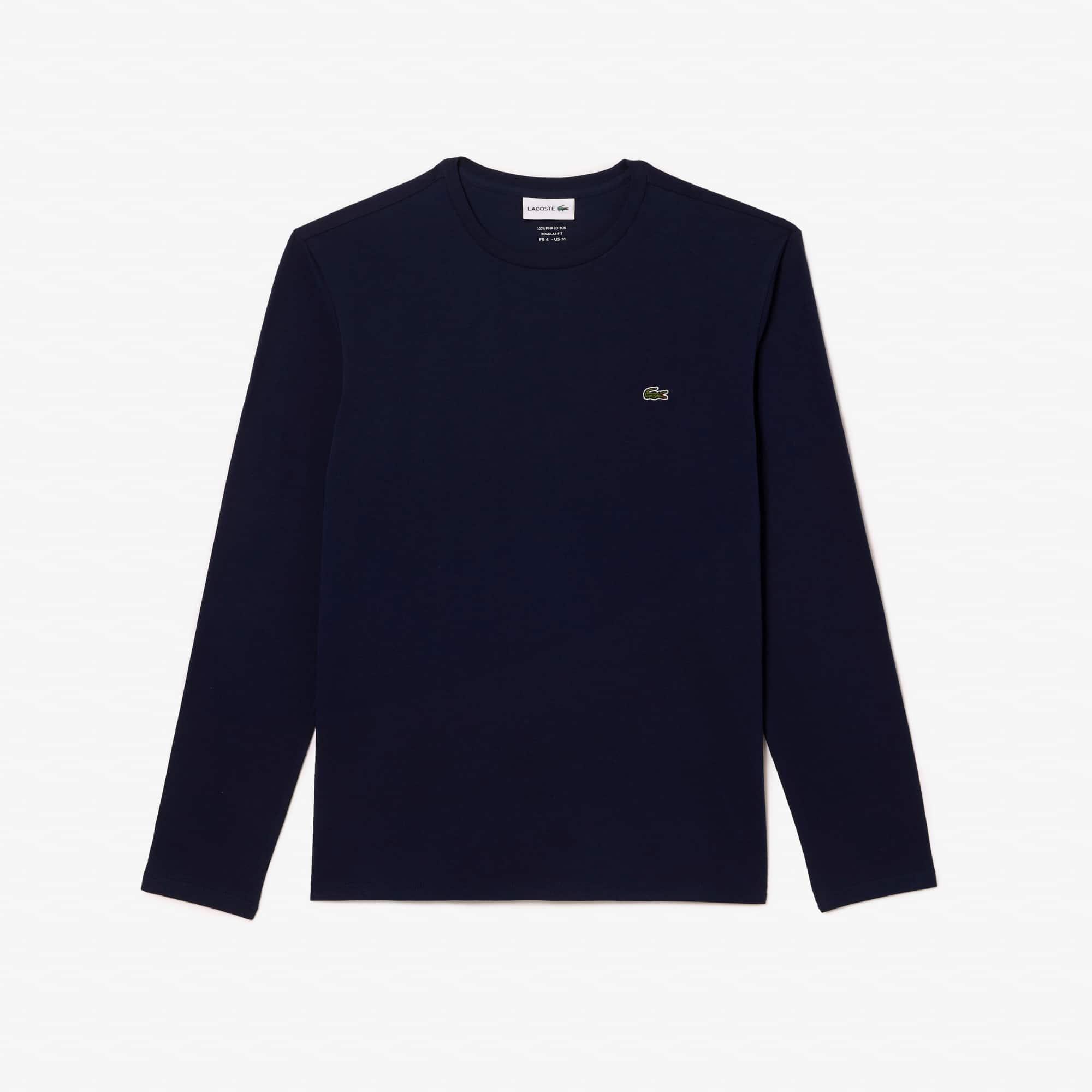 Lacoste - T-shirt col rond en jersey de coton pima uni - 3