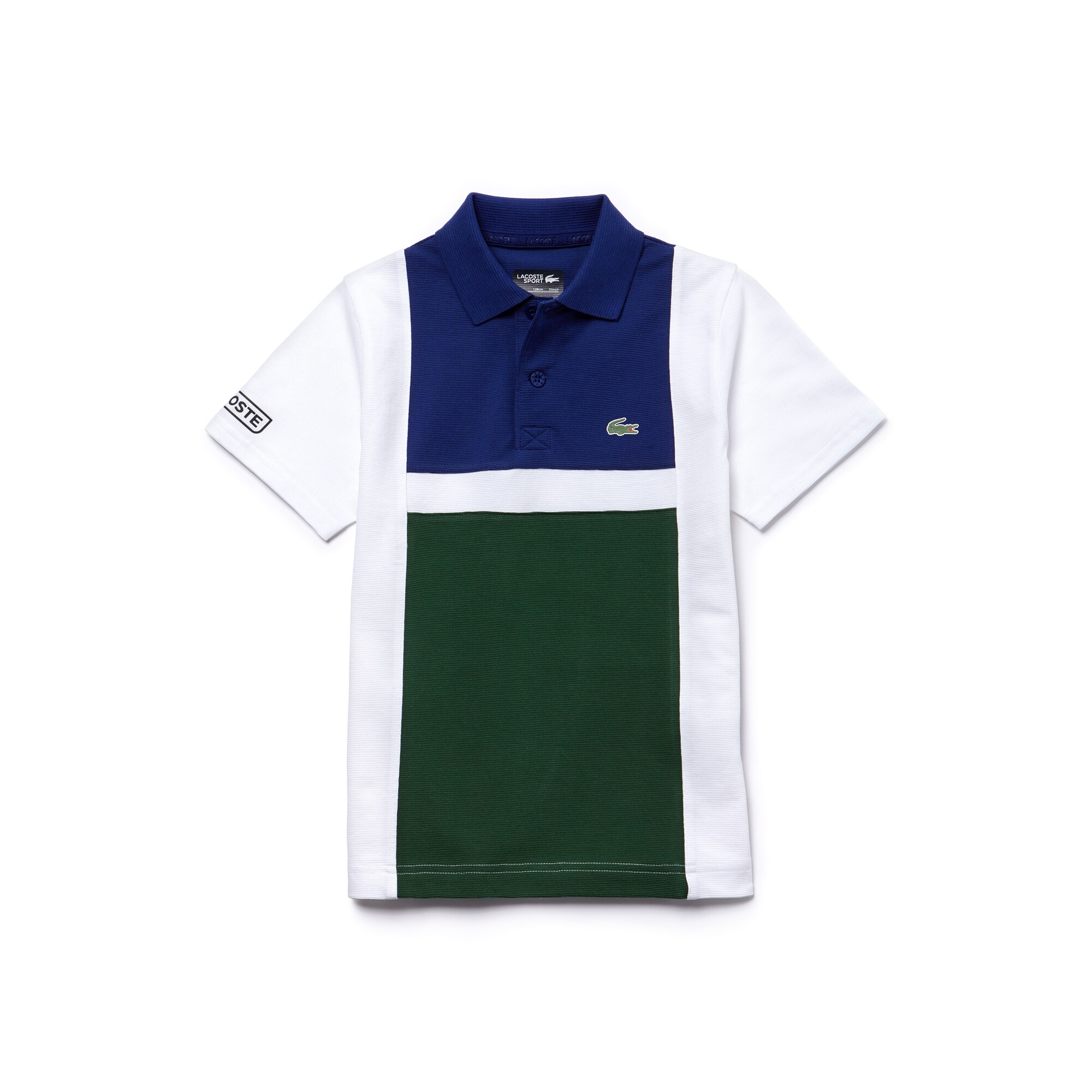 Polo Garçon Tennis Lacoste SPORT en coton ultra léger color block