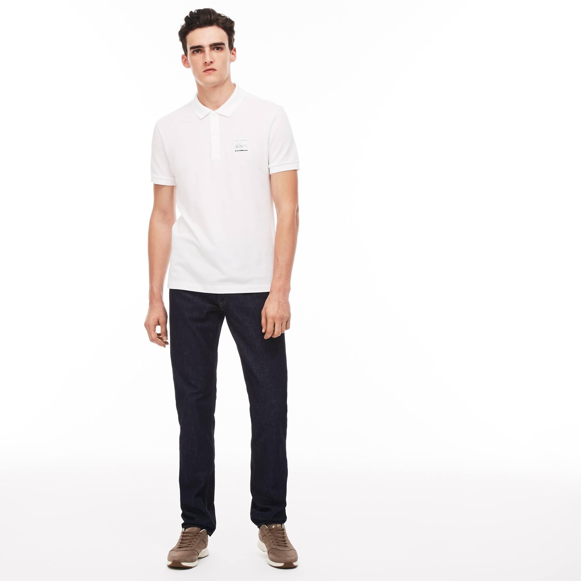 Jean 5 poches regular fit en denim de coton