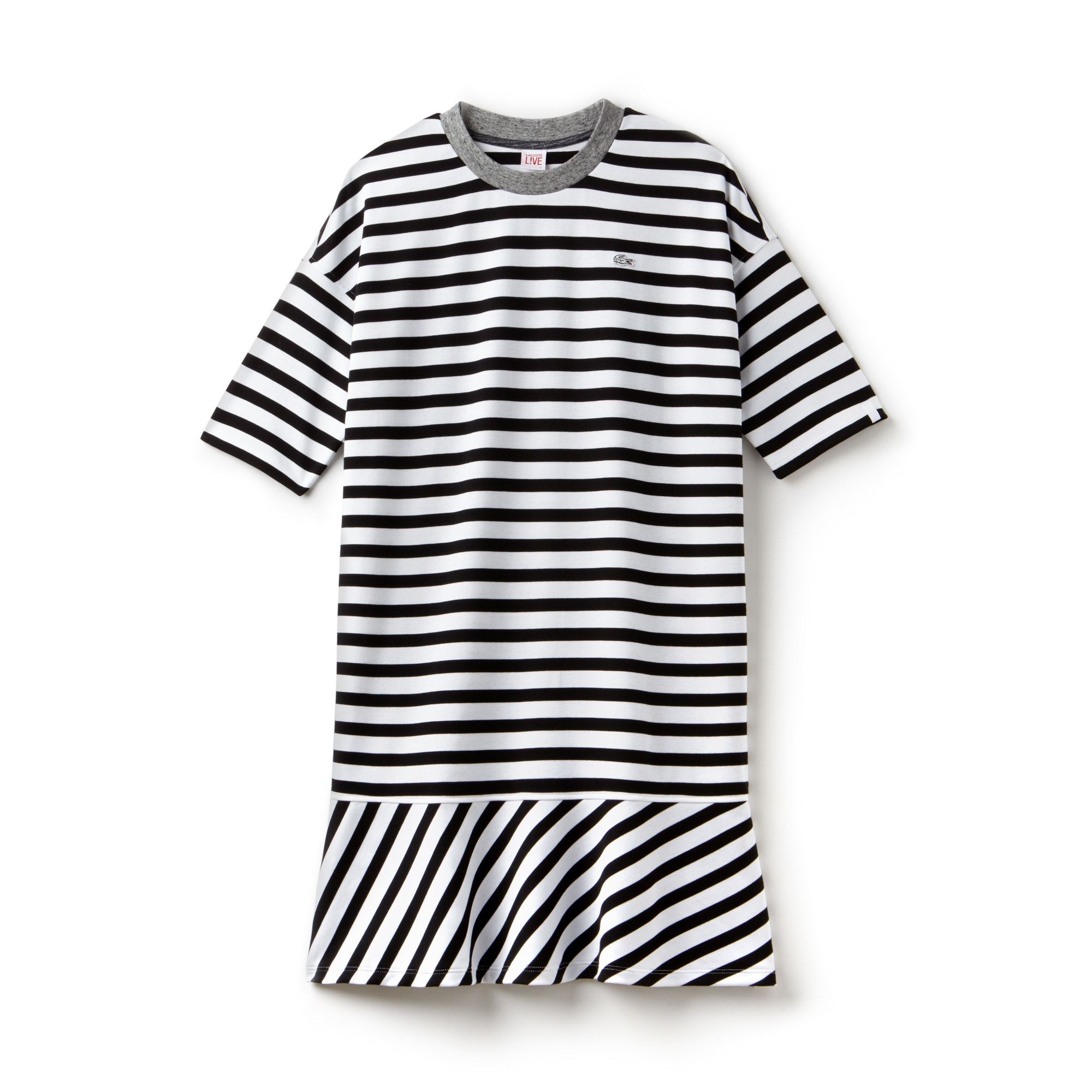 Robe marinière Lacoste LIVE en jersey avec finitions contrastées