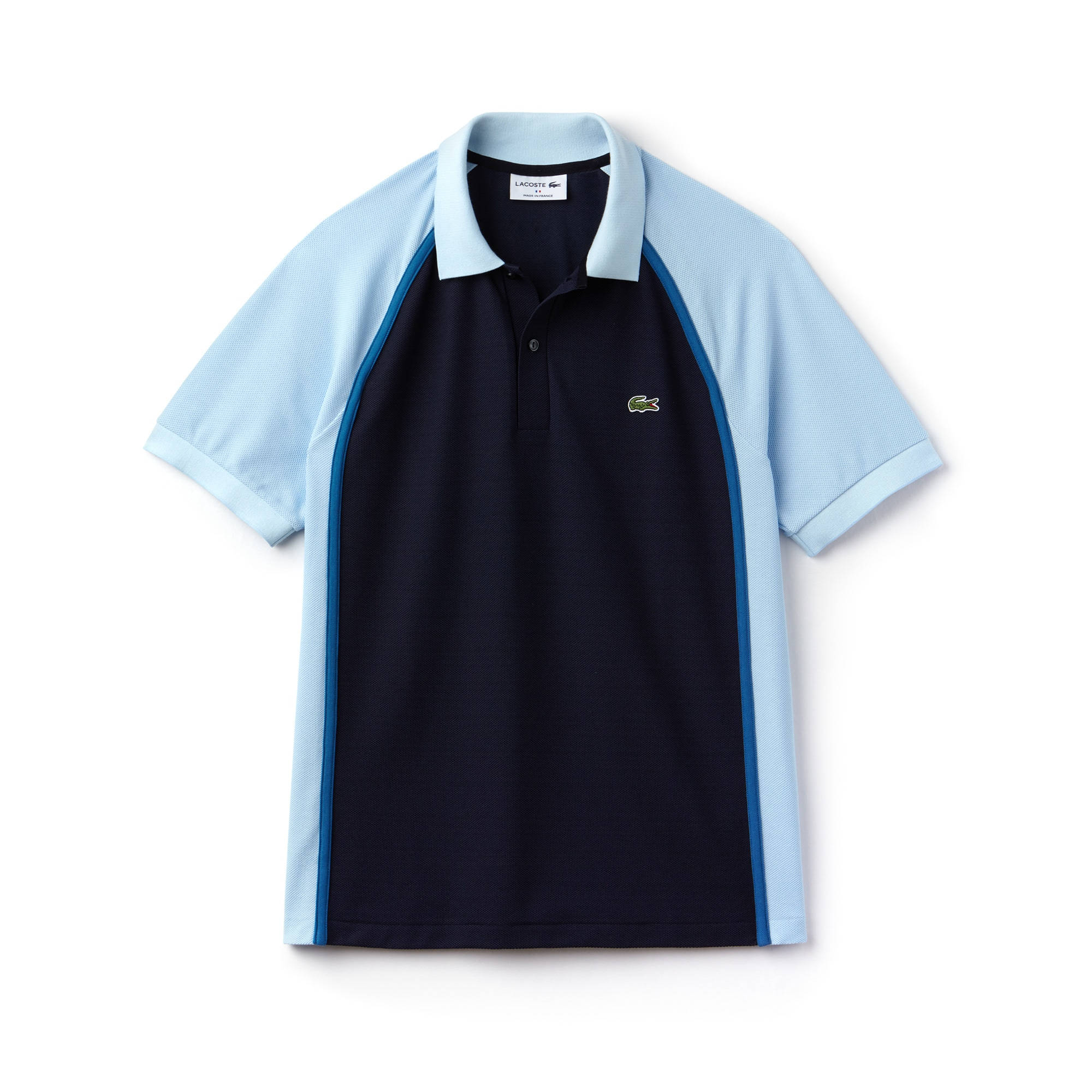 Polo regular fit Lacoste Made in France en piqué technique color block
