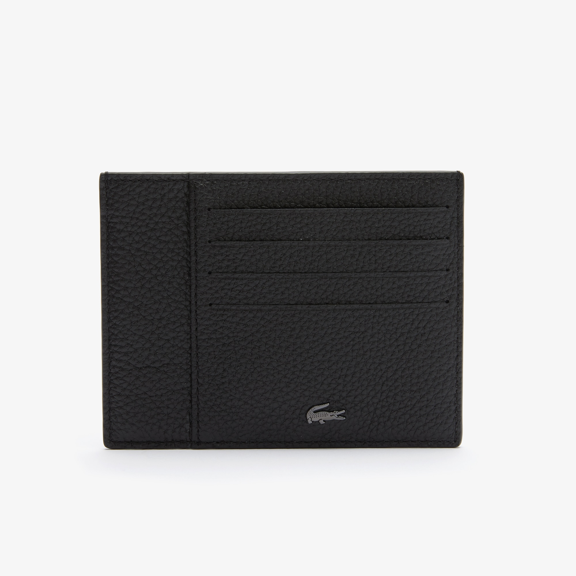 Lacoste Porte-cartes Soft Mate en cuir grainé Taille Taille unique Noir