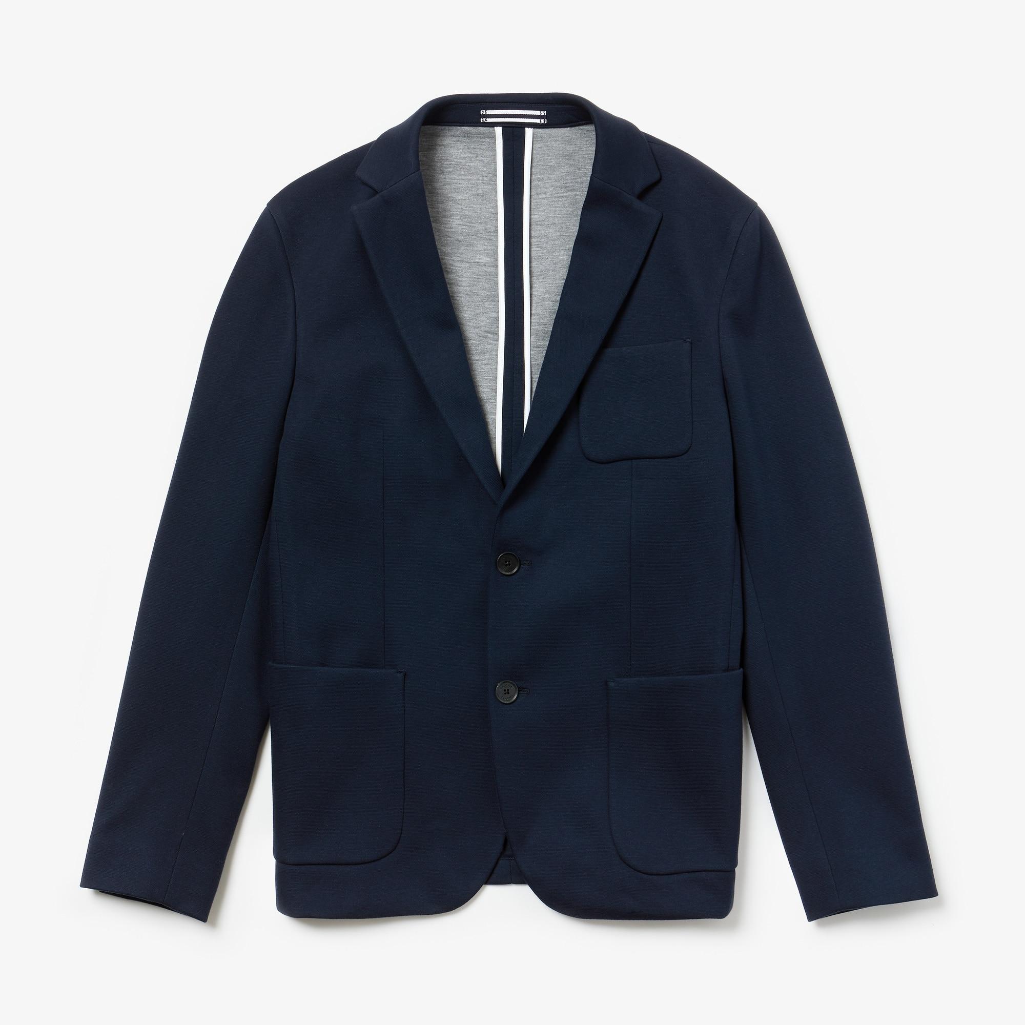Blazer en piqué et jersey de coton stretch