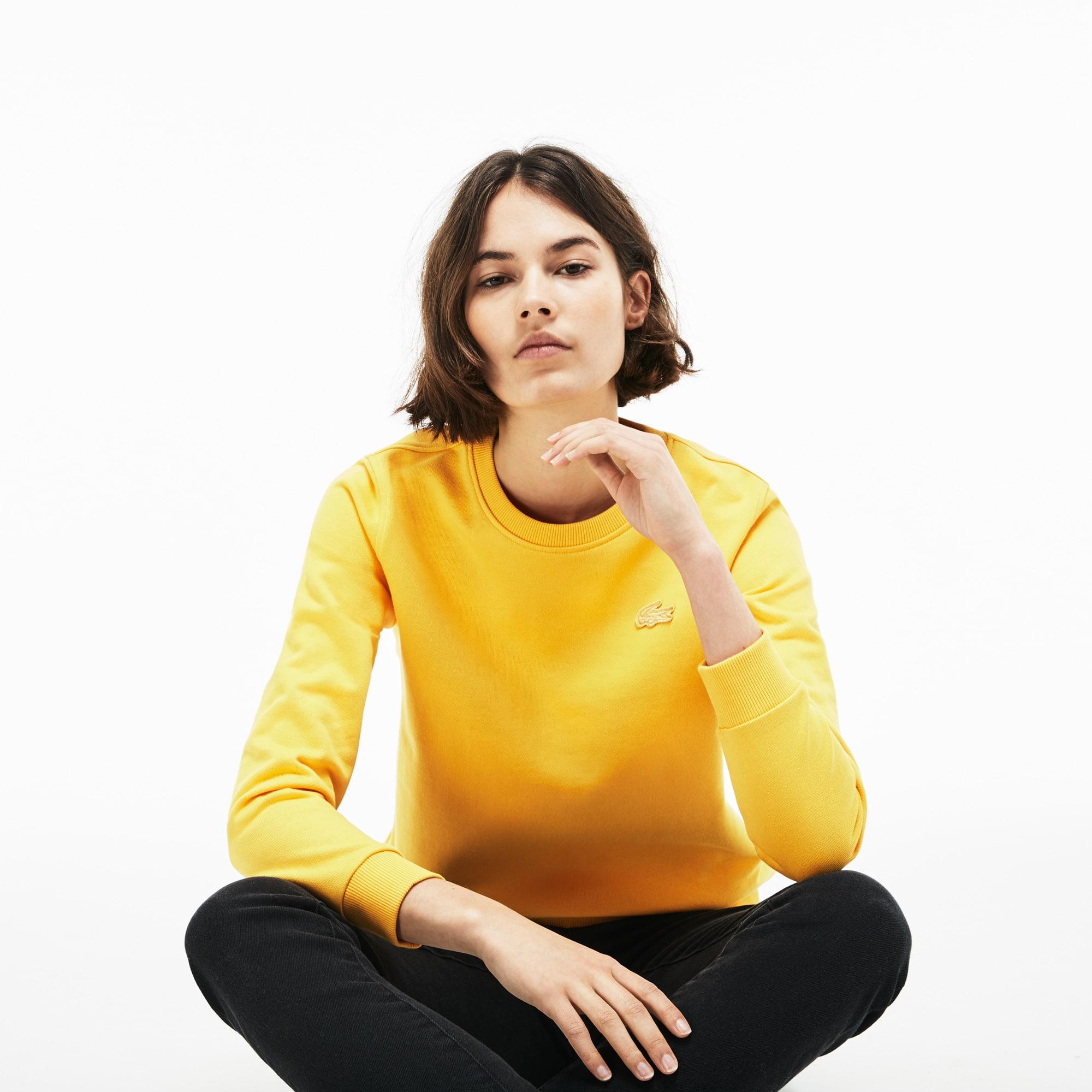 Sweatshirt Lacoste LIVE en molleton uni avec ouverture en goutte