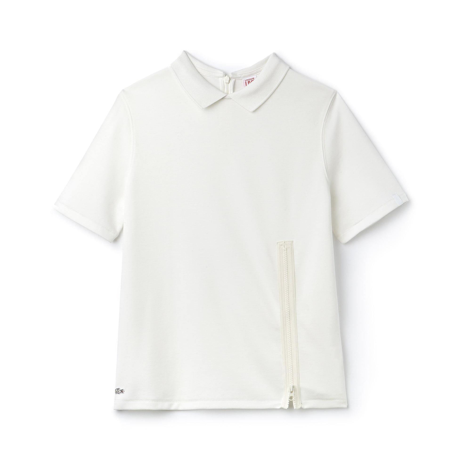 Women's Lacoste LIVE Jersey Zip Polo Shirt