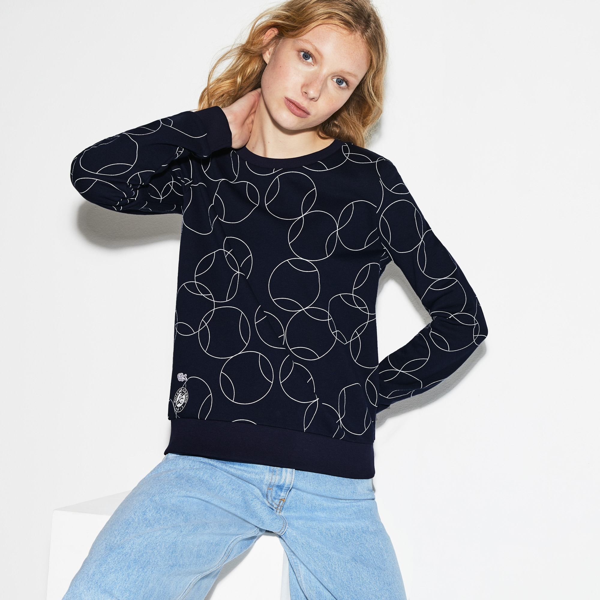 Women's Lacoste SPORT French Open Edition Print Fleece Sweatshirt