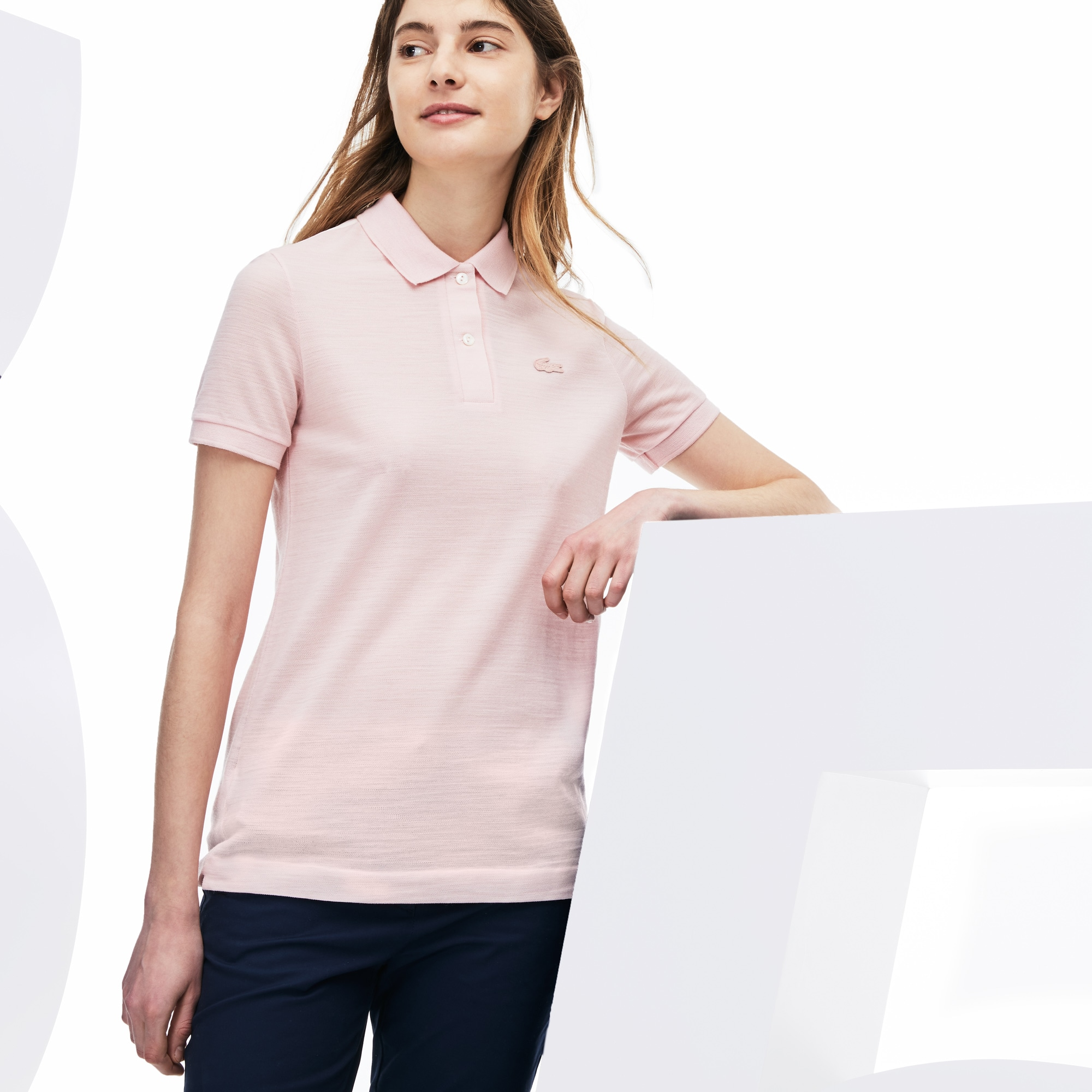 Women's Lacoste 85th Anniversary Limited Edition Classic Fit Wool Piqué Polo