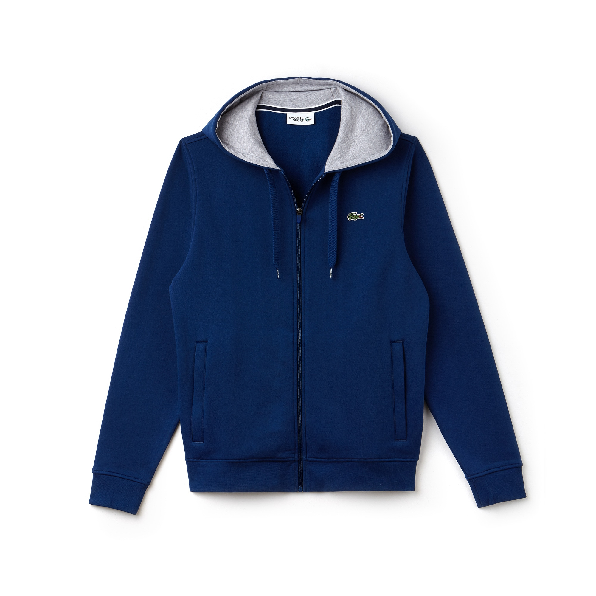Men's Lacoste SPORT Tennis hooded zippered sweatshirt in fleece
