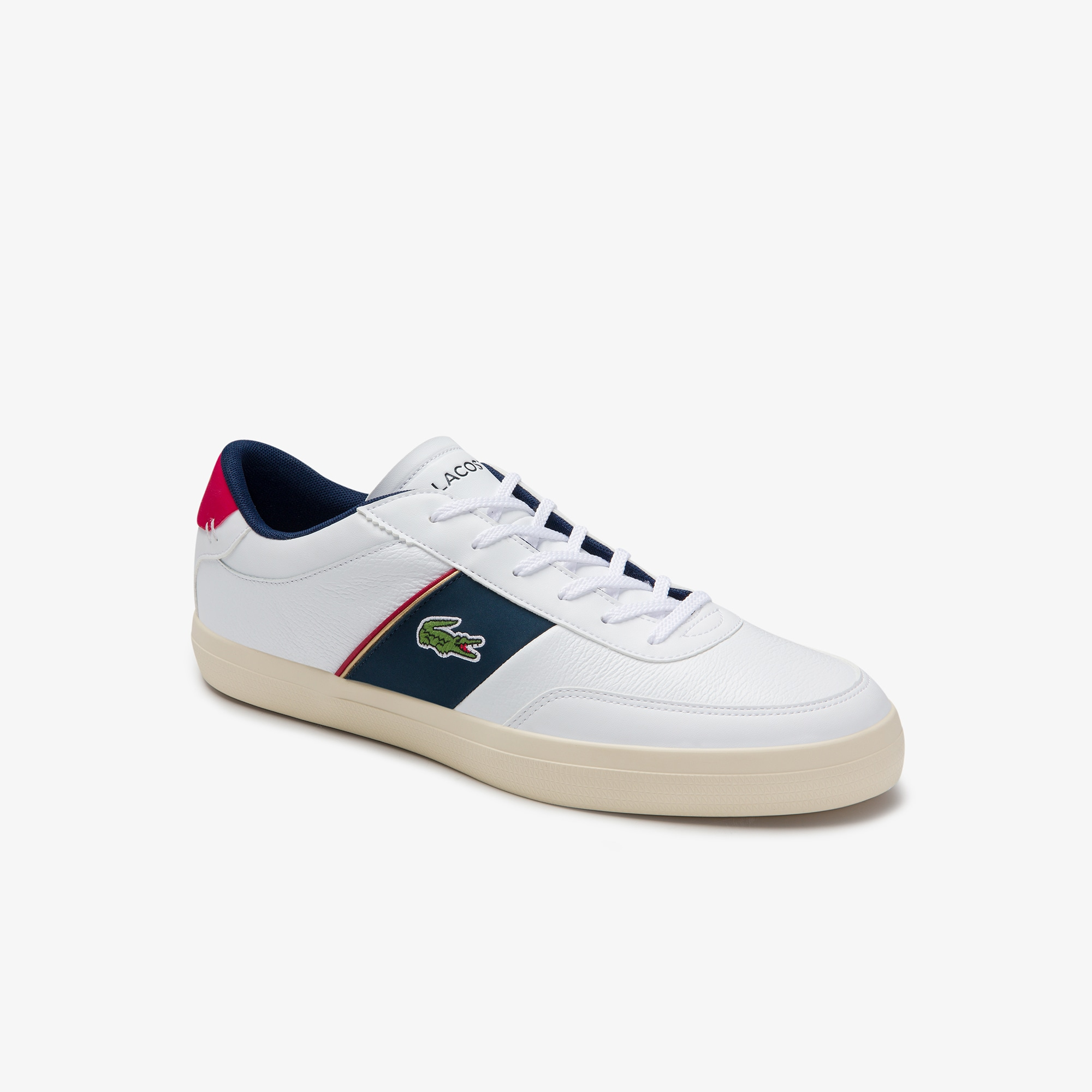 Men's Court-Master Tumbled Leather Sneakers