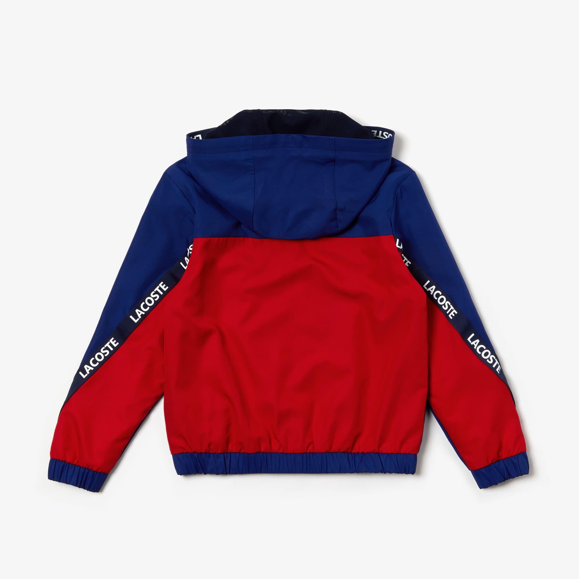 chaussures classiques vente professionnelle haut de gamme pas cher Boys' Lacoste SPORT Signature Bands Bicolour Sweat Jacket