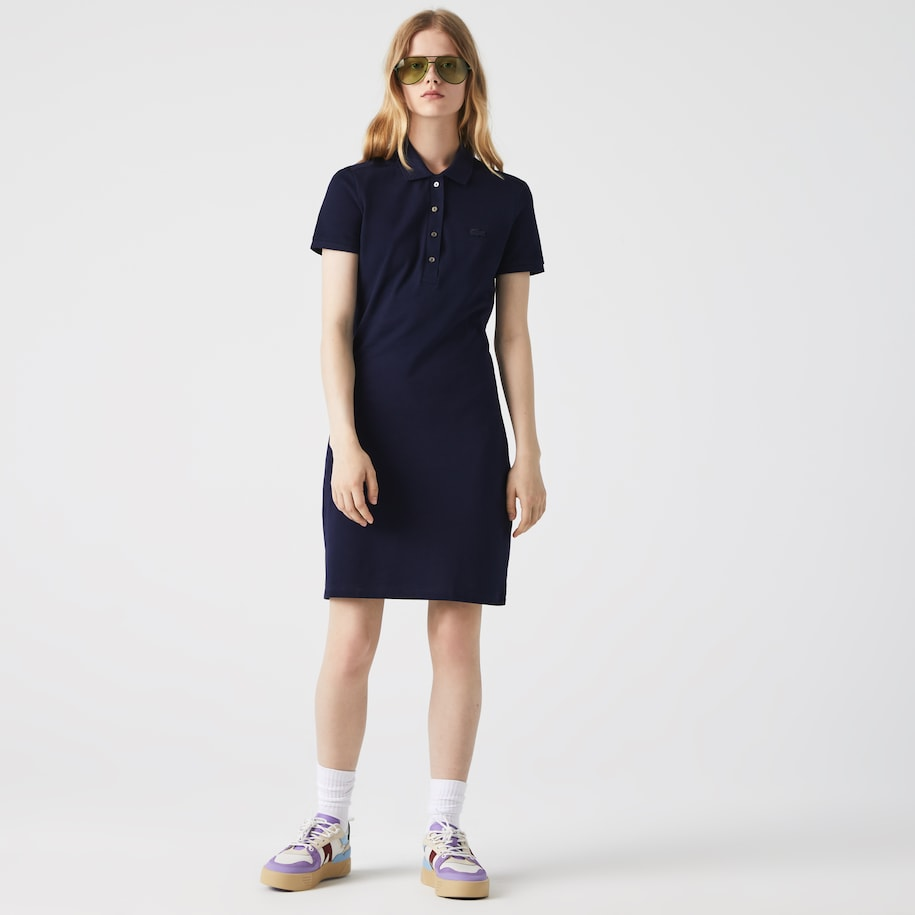 Women's Stretch Cotton Piqué Polo Dress