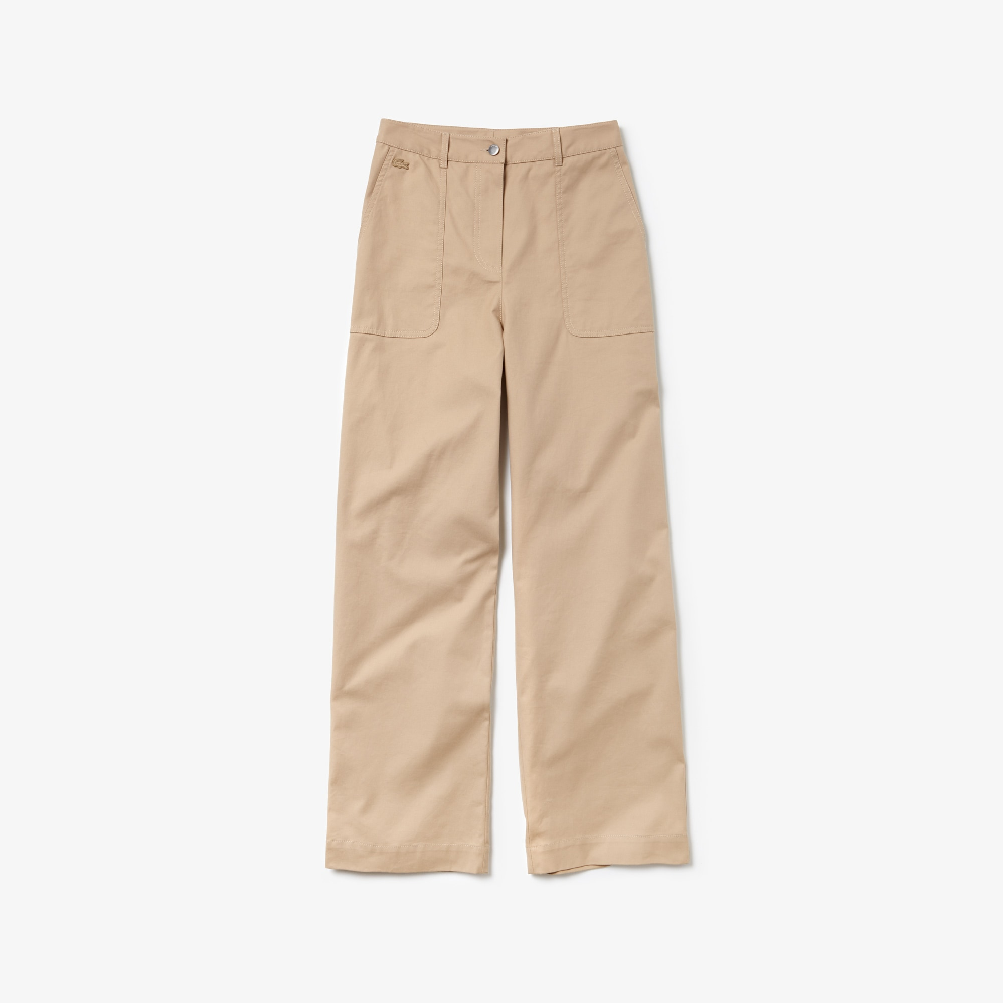 Women's Texturized Cotton Pleated Carrot Pants
