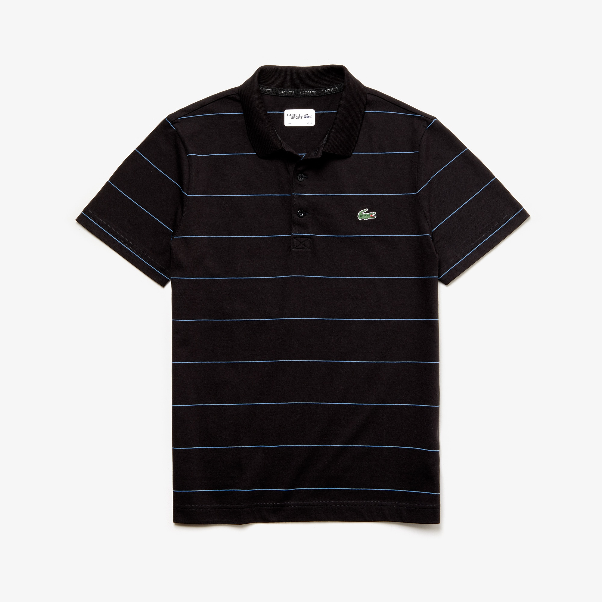 Men's Lacoste SPORT Striped Technical Cotton Tennis Polo Shirt