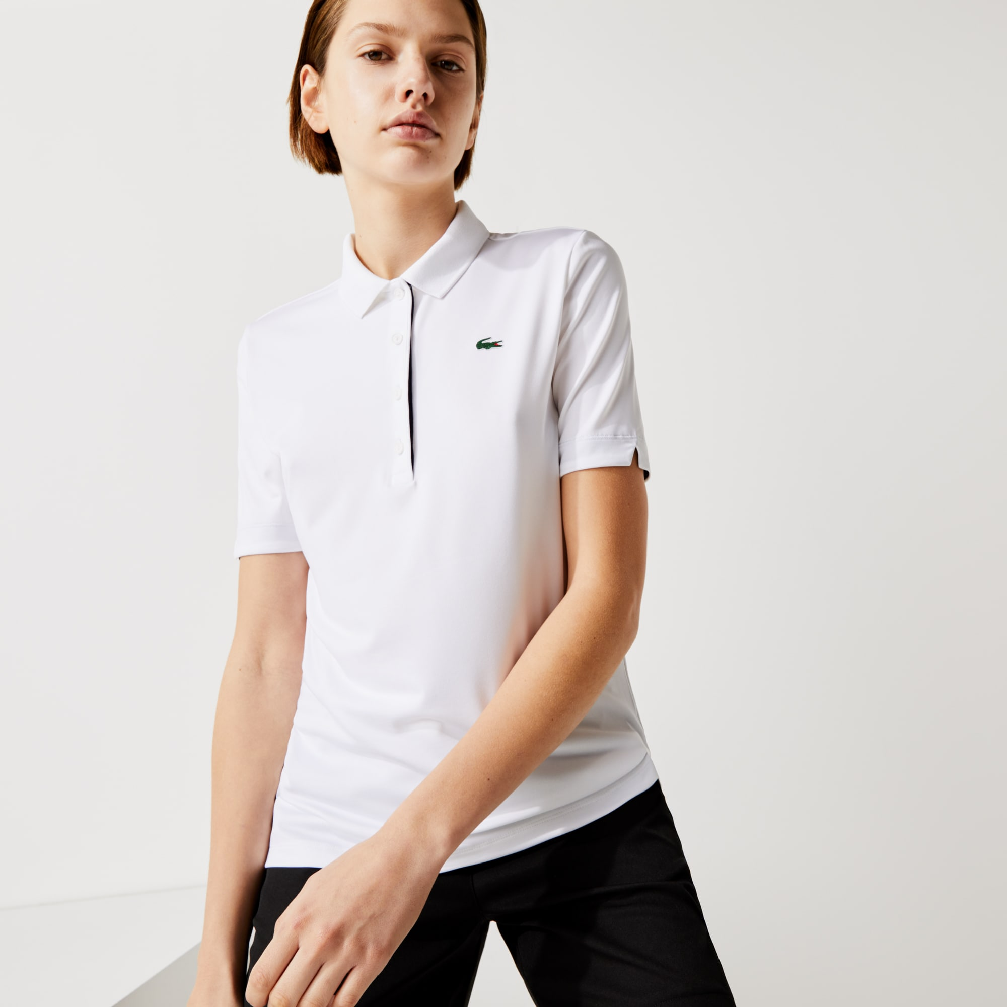 Women's Lacoste SPORT Breathable Stretch Golf Polo Shirt