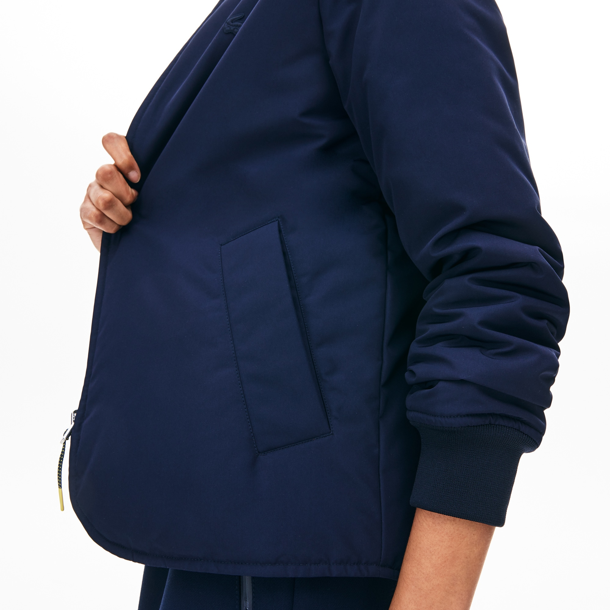 Women's Seamlessly Quilted Reversible Bi-Material Rain Jacket