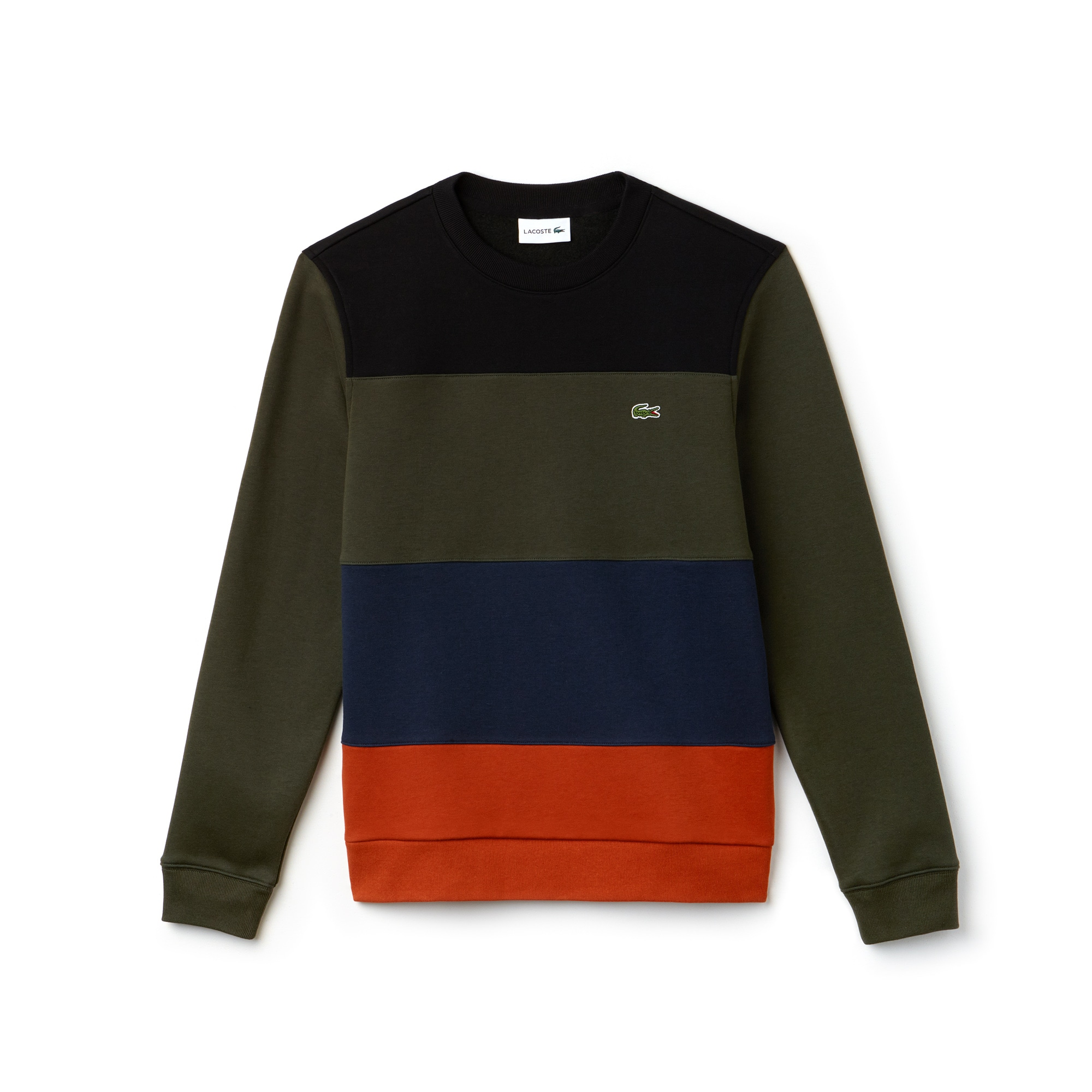 Men's Crew Neck Colorblock Fleece Sweatshirt