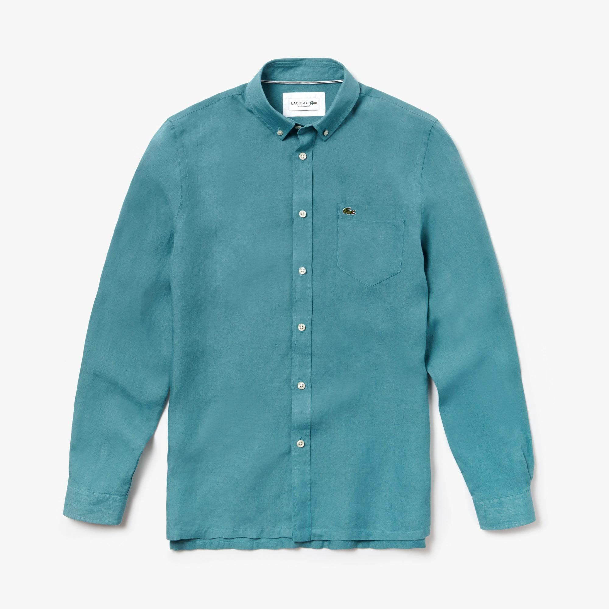 Men s Regular Fit Linen Shirt 08a50f88166