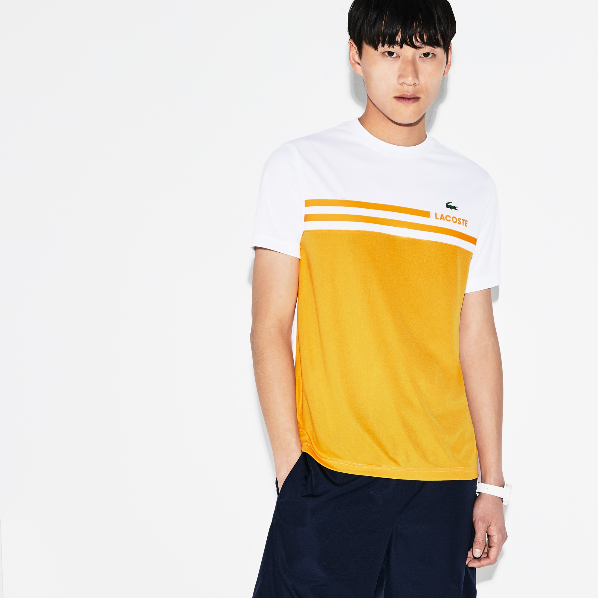 Men's Lacoste SPORT Colorblock Technical Piqué Tennis T-shirt