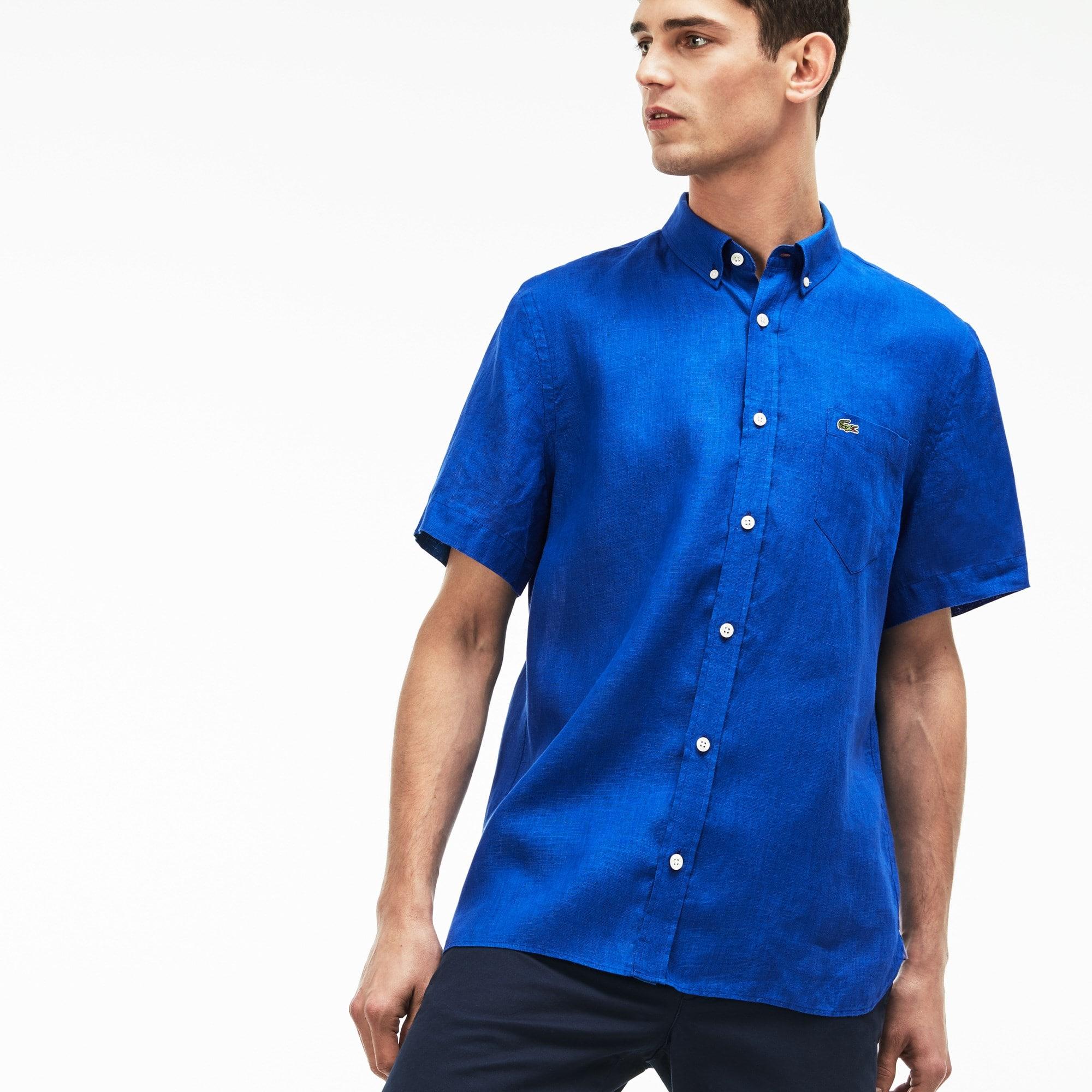 ccde79e5874a Men s Regular Fit Linen Shirt ...