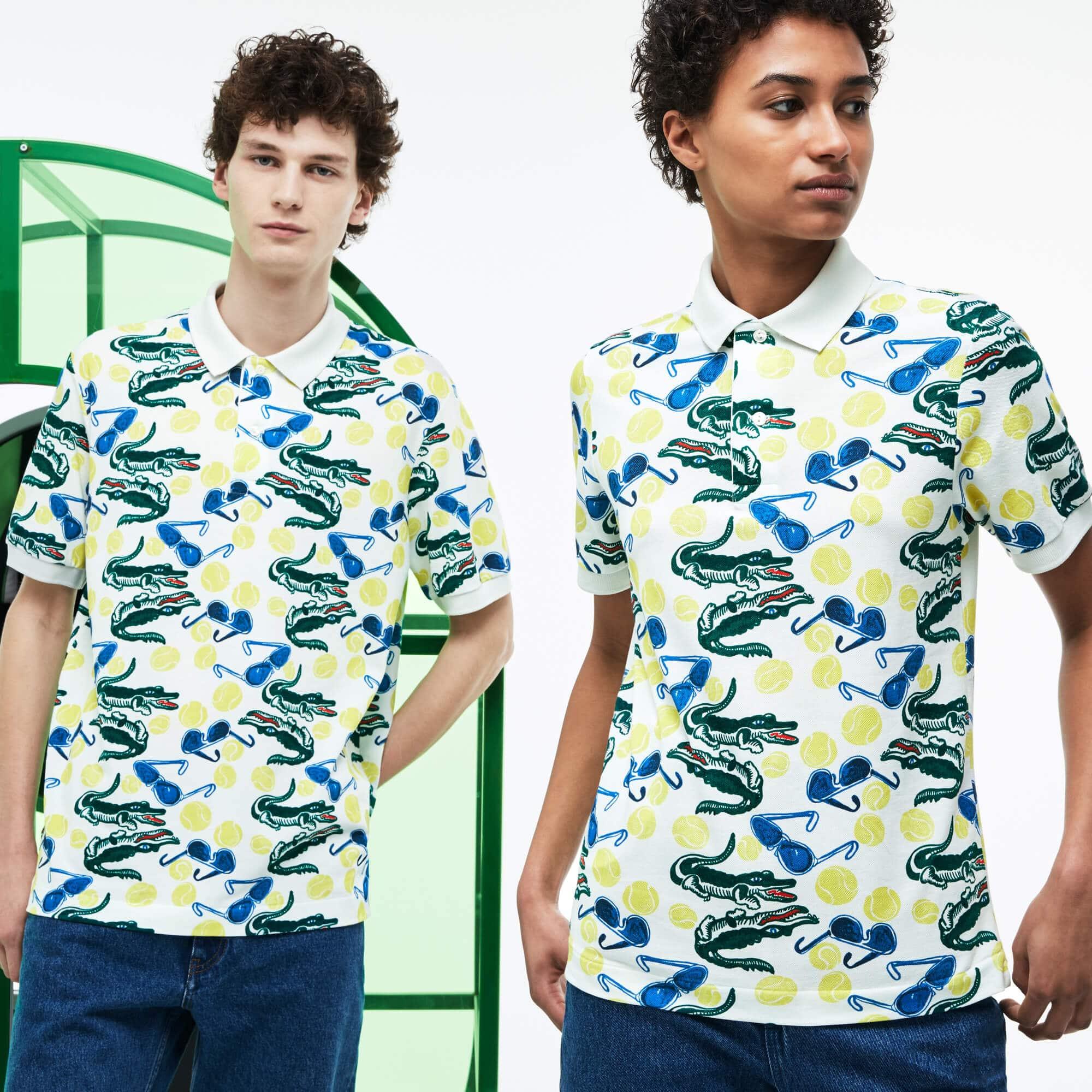 Unisex Lacoste Fashion Show MM Collab Print Piqué Polo Shirt