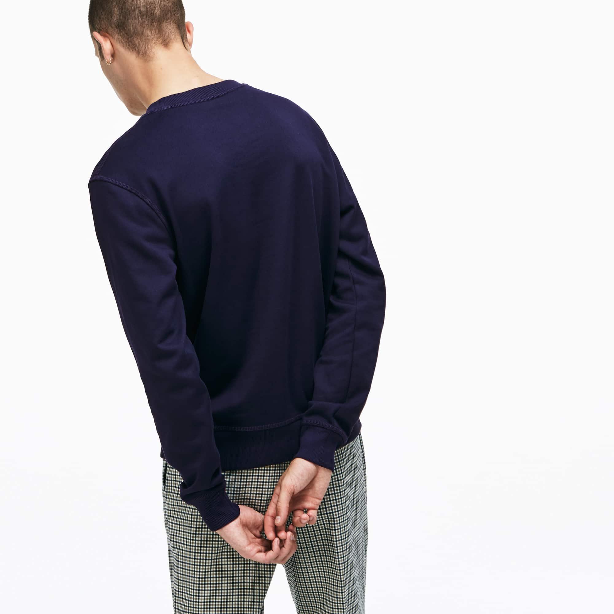Lacoste - Unisex Lacoste LIVE Crew Neck Cotton Fleece Sweatshirt - 5
