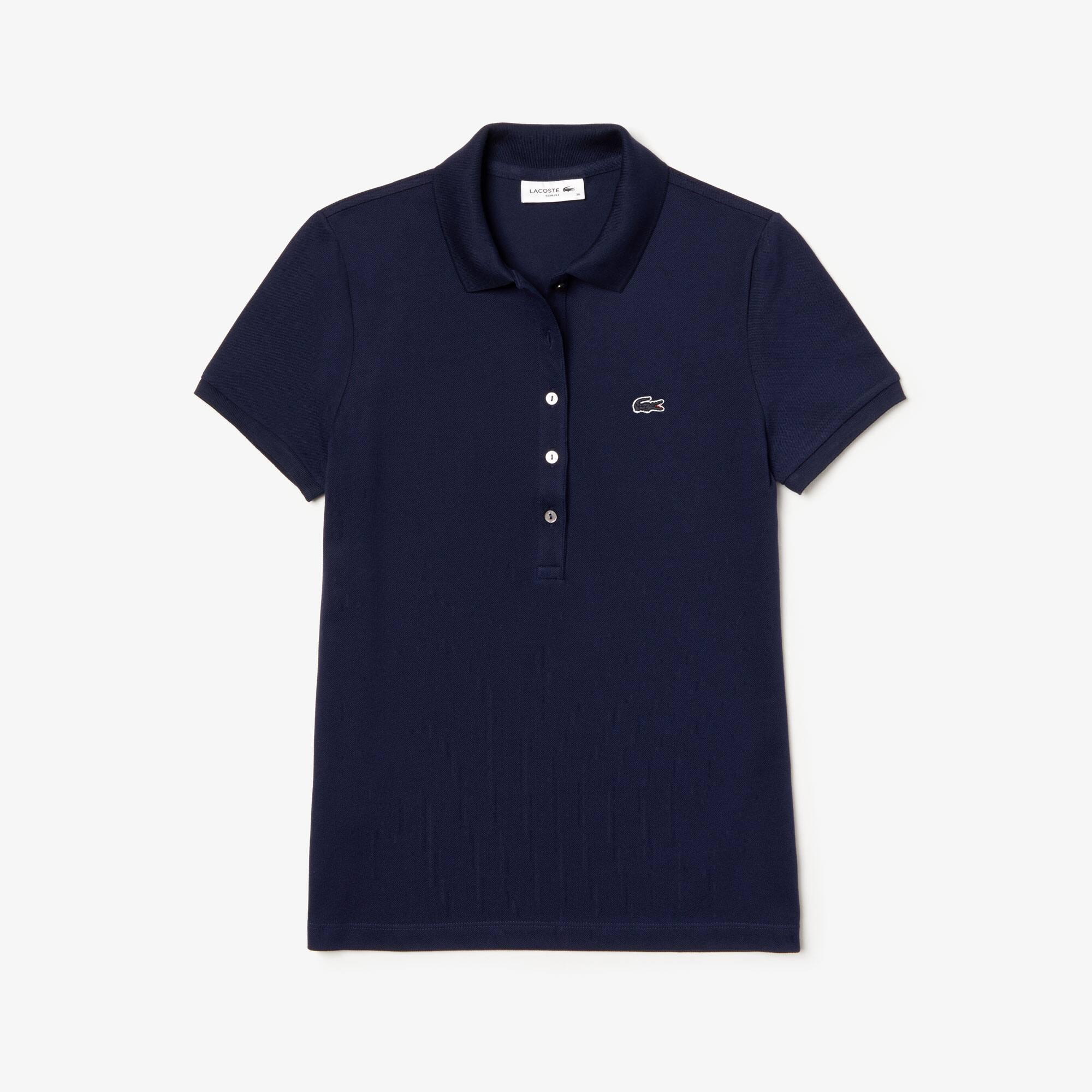 7b1d3ca60e5a Women s Lacoste Slim Fit Stretch Mini Cotton Piqué Polo Shirt   LACOSTE