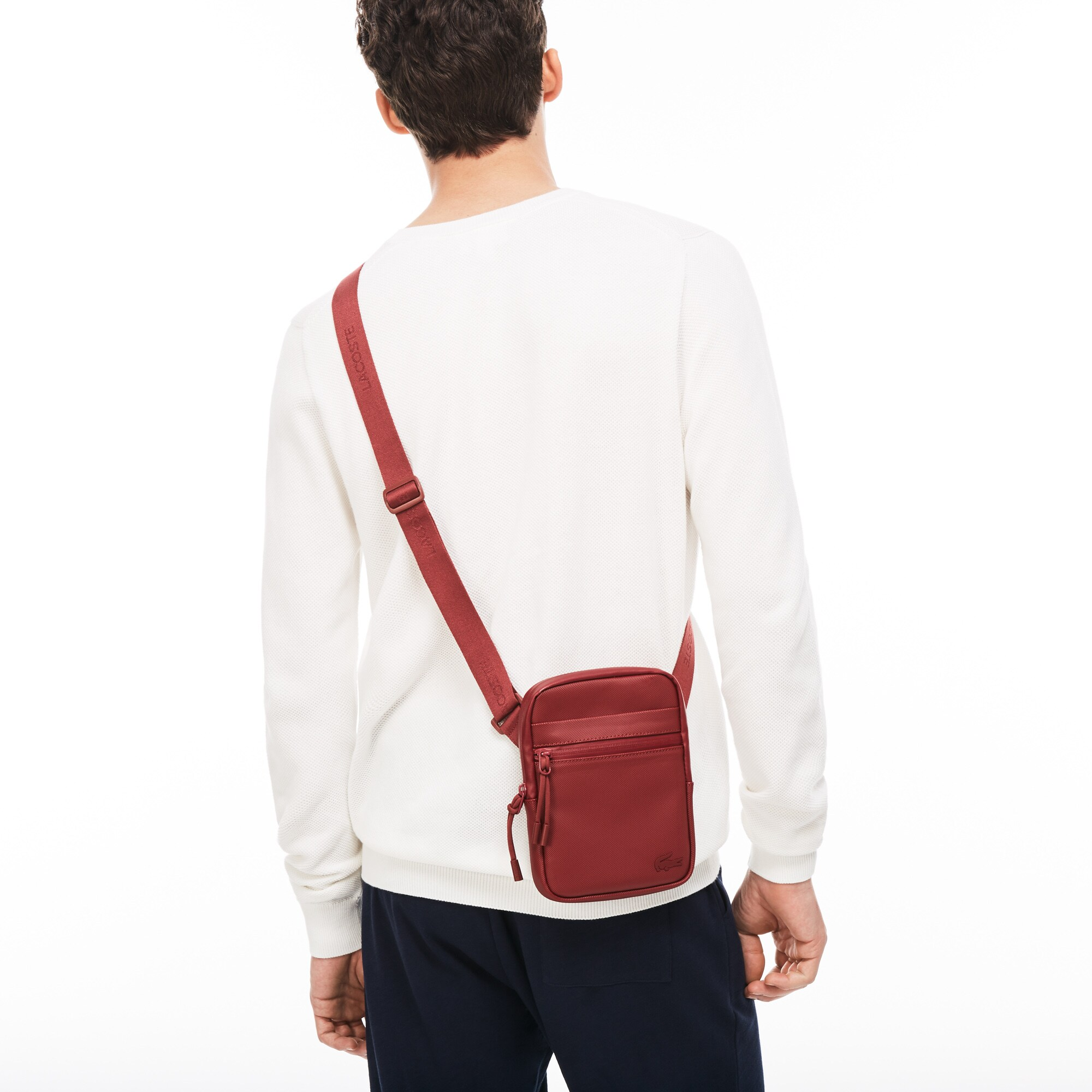 Men's L.12.12 Concept Petit Piqué Small Flat Zip Bag