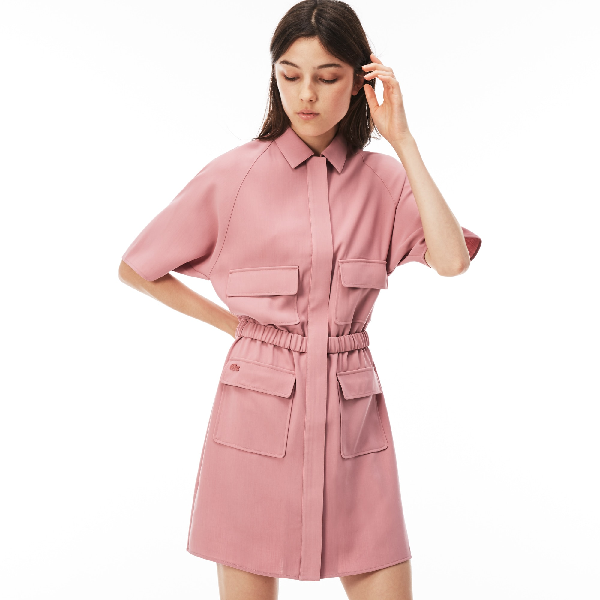 Women's Lacoste LIVE Crepe Zip Dress