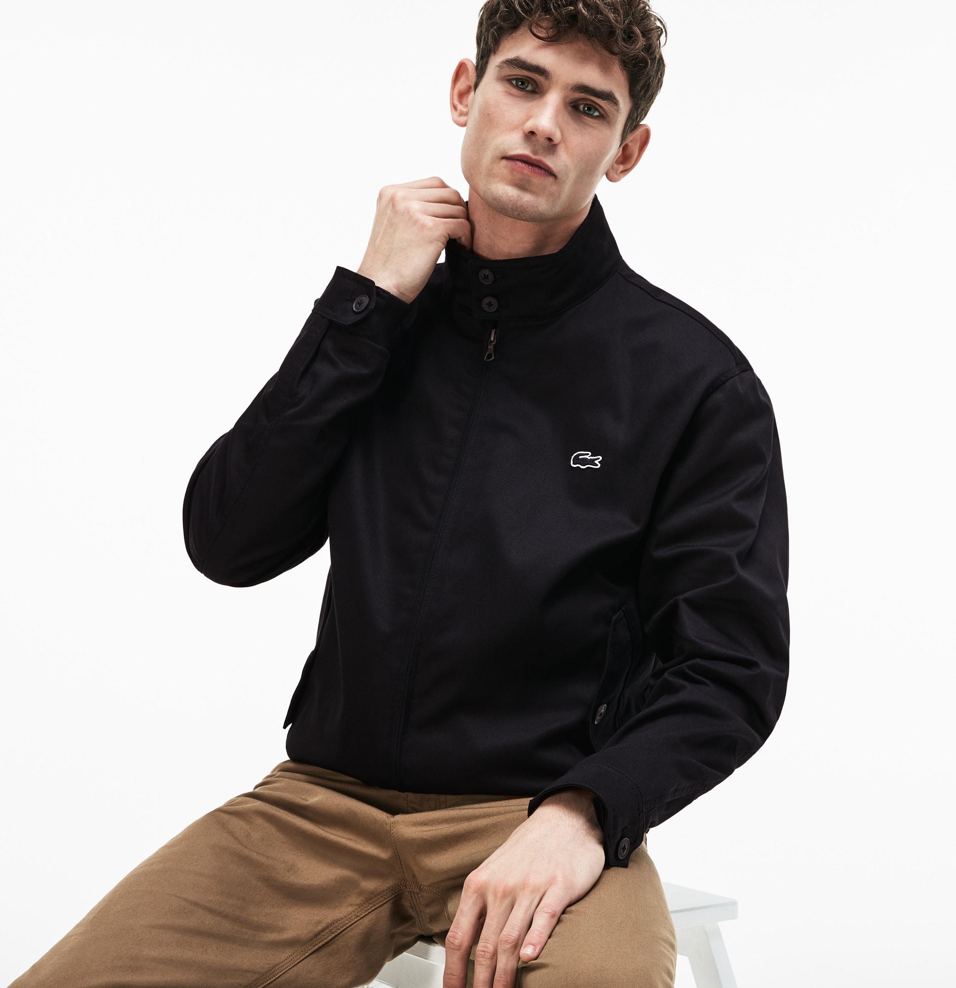 Short Zip Men's Cotton Twill Jacket fgyYb76v