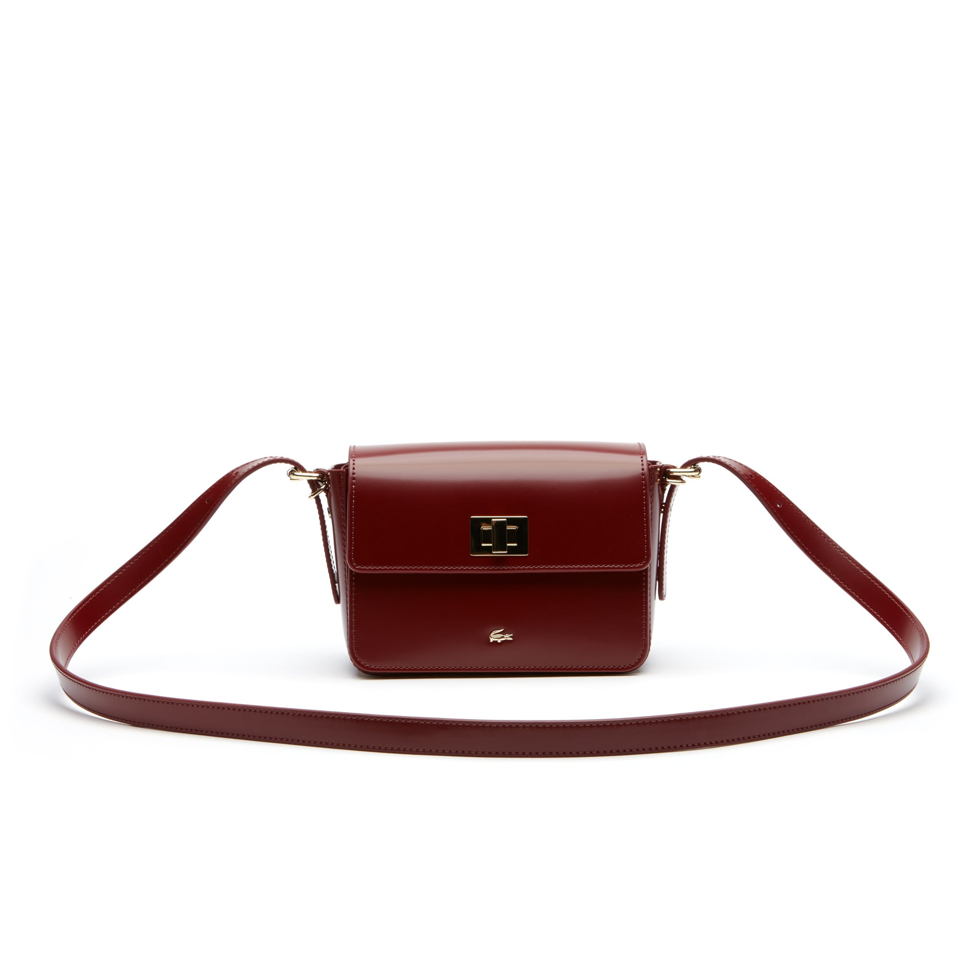 Women's Mini Golf Glazed Leather Square Crossover Bag
