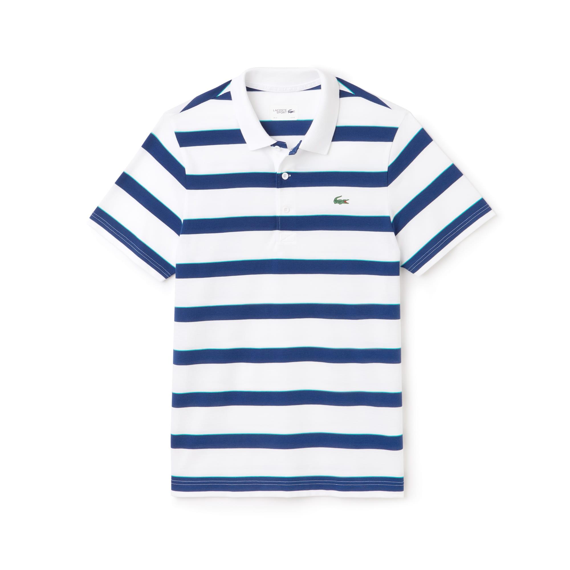 Men's Lacoste SPORT Striped Ultra-Light Cotton Tennis Polo