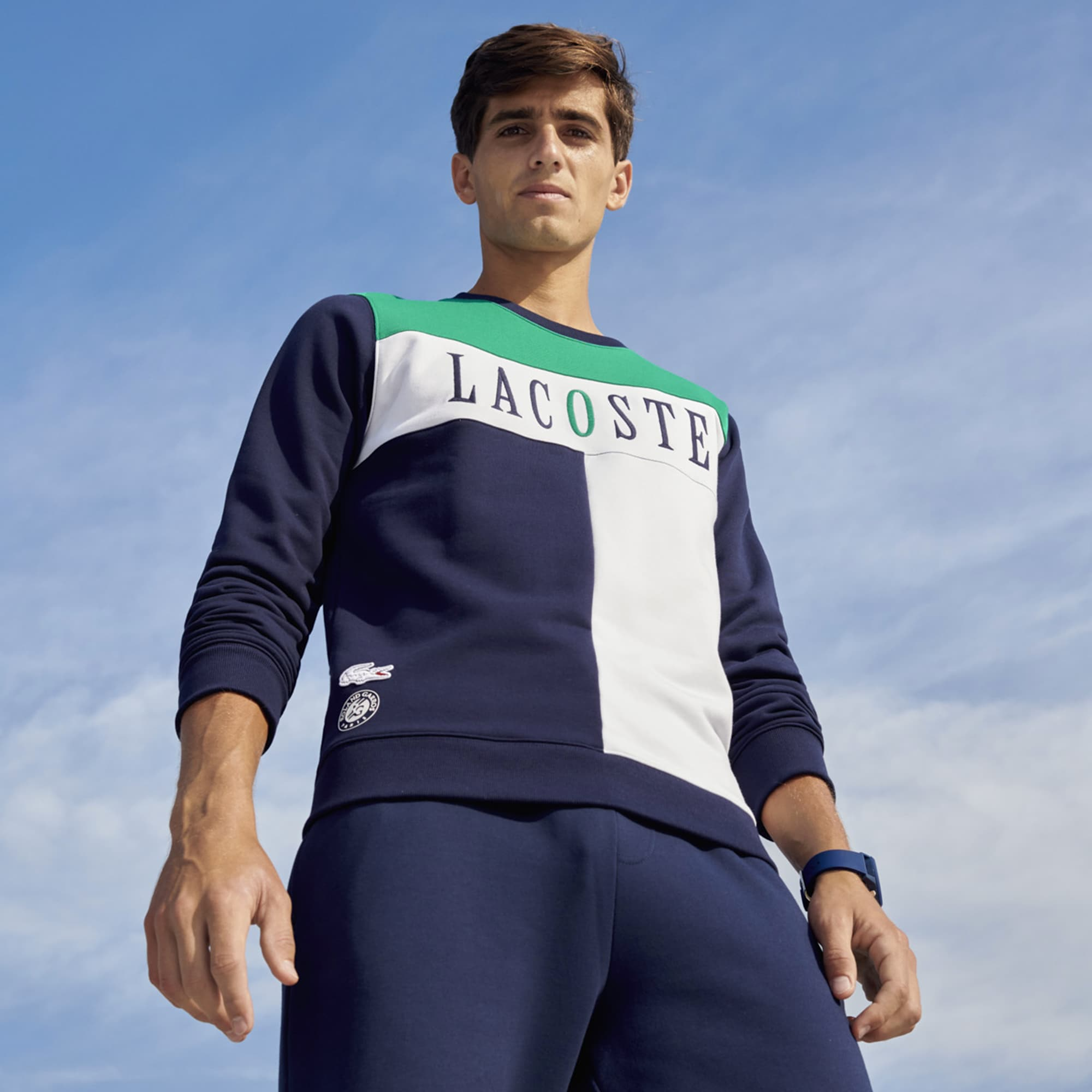 Men's Lacoste SPORT French Open Edition Fleece Sweatshirt