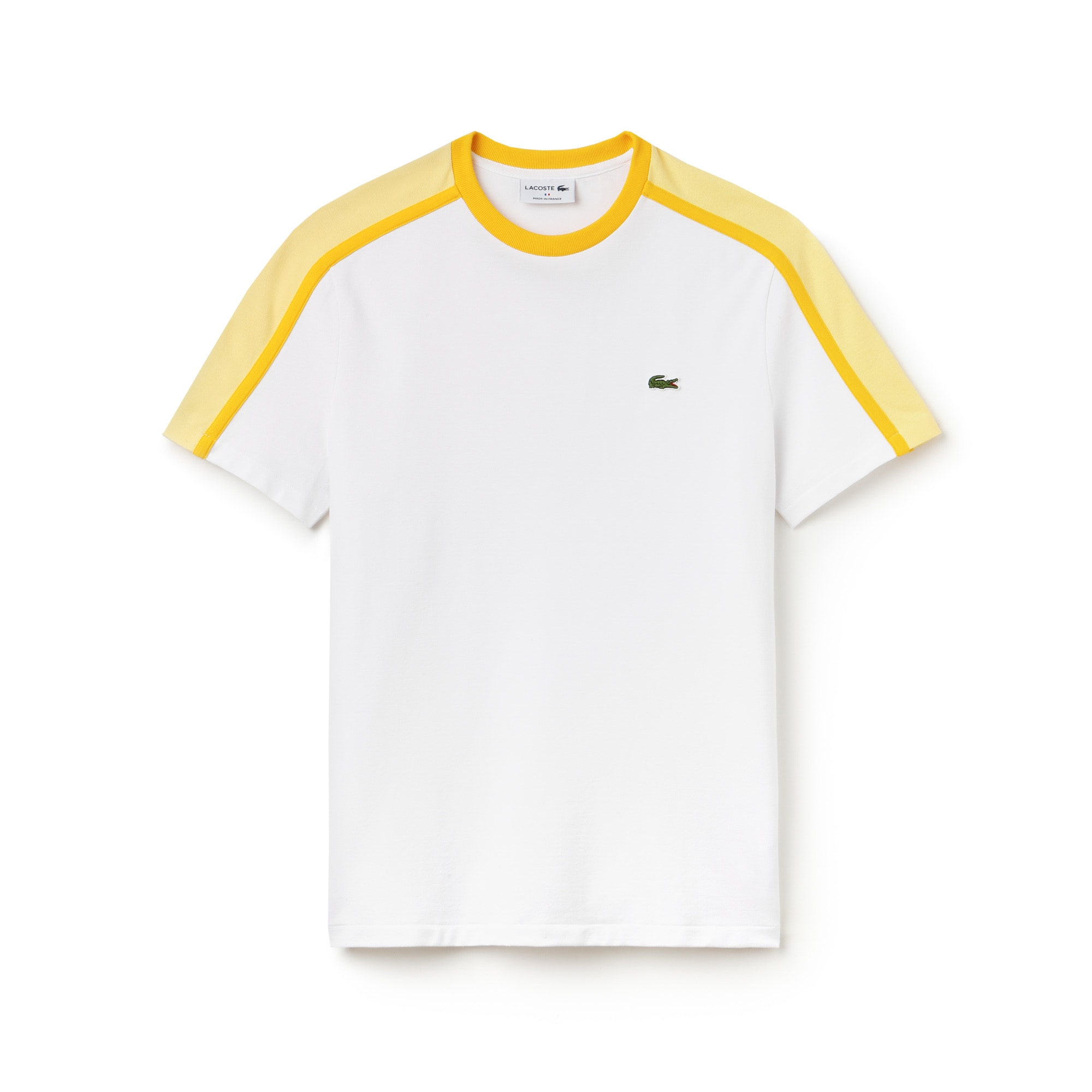 Men's Made in France Crew Neck Colorblock Technical Piqué T-shirt