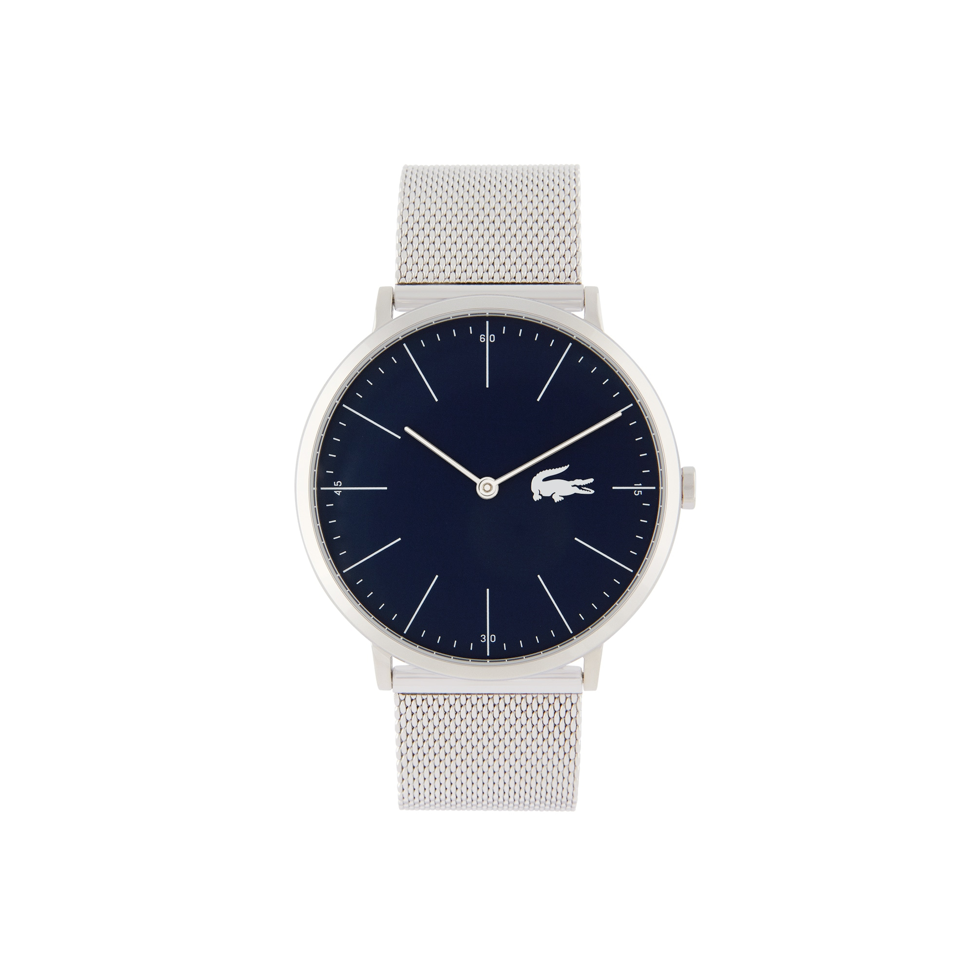 Men's Moon Watch with Silver Mesh Strap