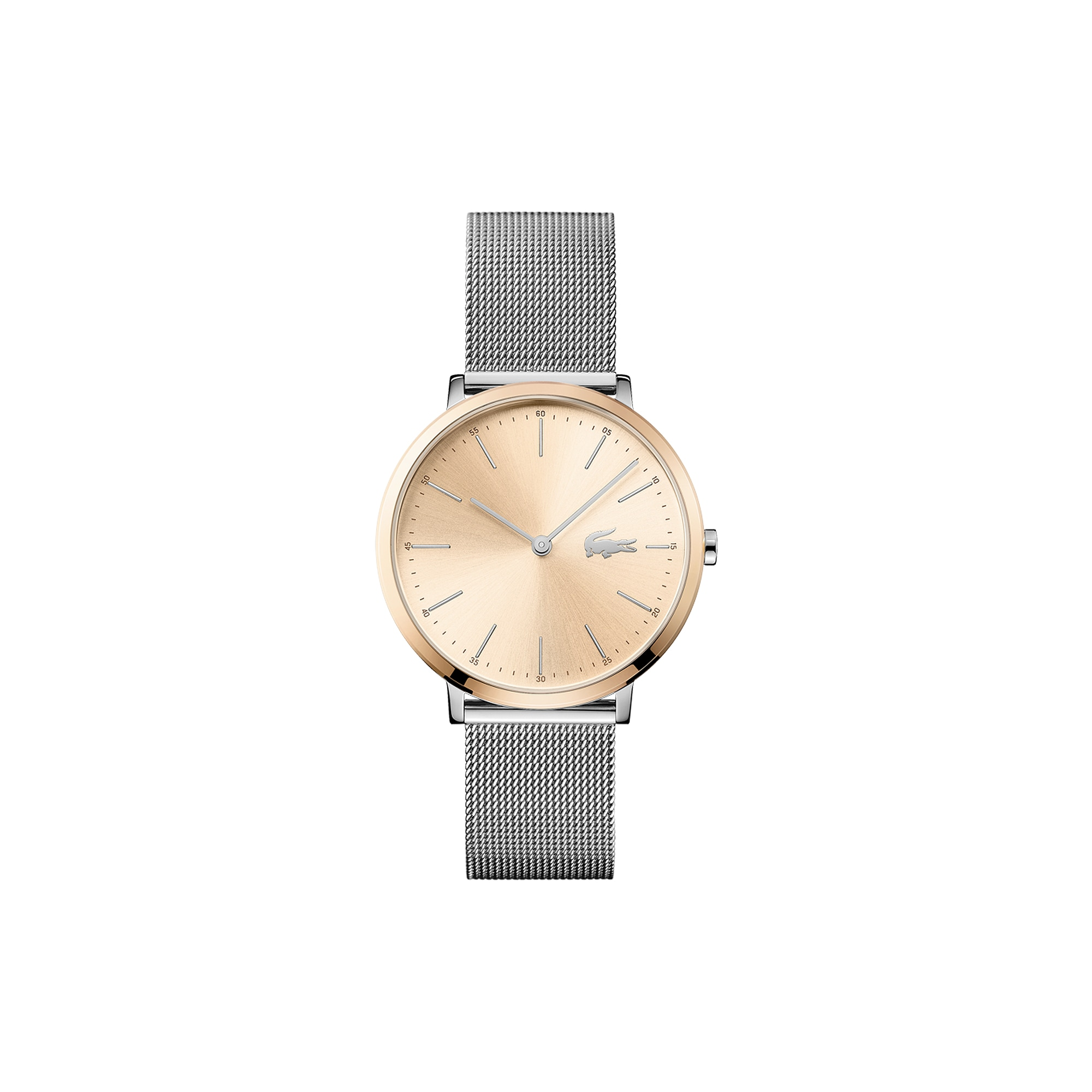 Women's Moon Ultra Slim Watch with Stainless Steel Mesh Bracelet