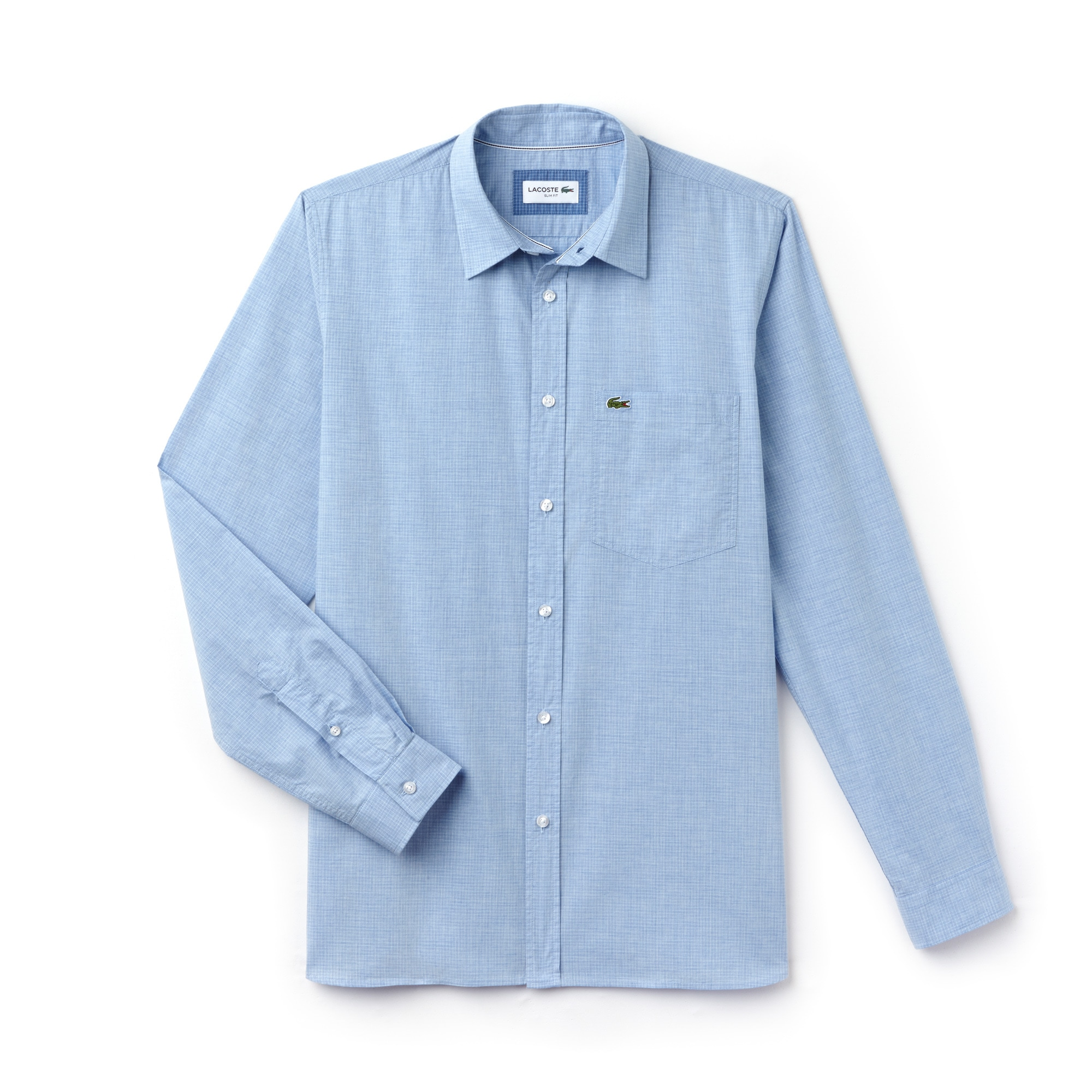 Men's Slim Fit Check Cotton Poplin Shirt